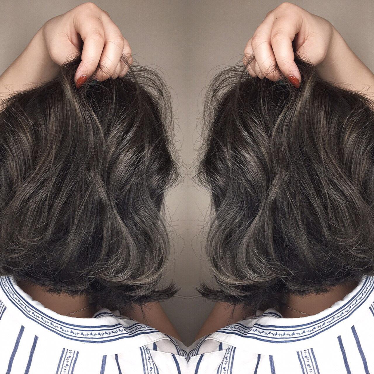 ボブ 外国人風 アッシュ 大人かわいいヘアスタイルや髪型の写真・画像