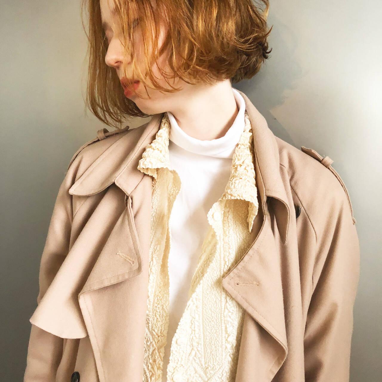 ダブルブリーチ ナチュラル ベージュ ナチュラルベージュヘアスタイルや髪型の写真・画像