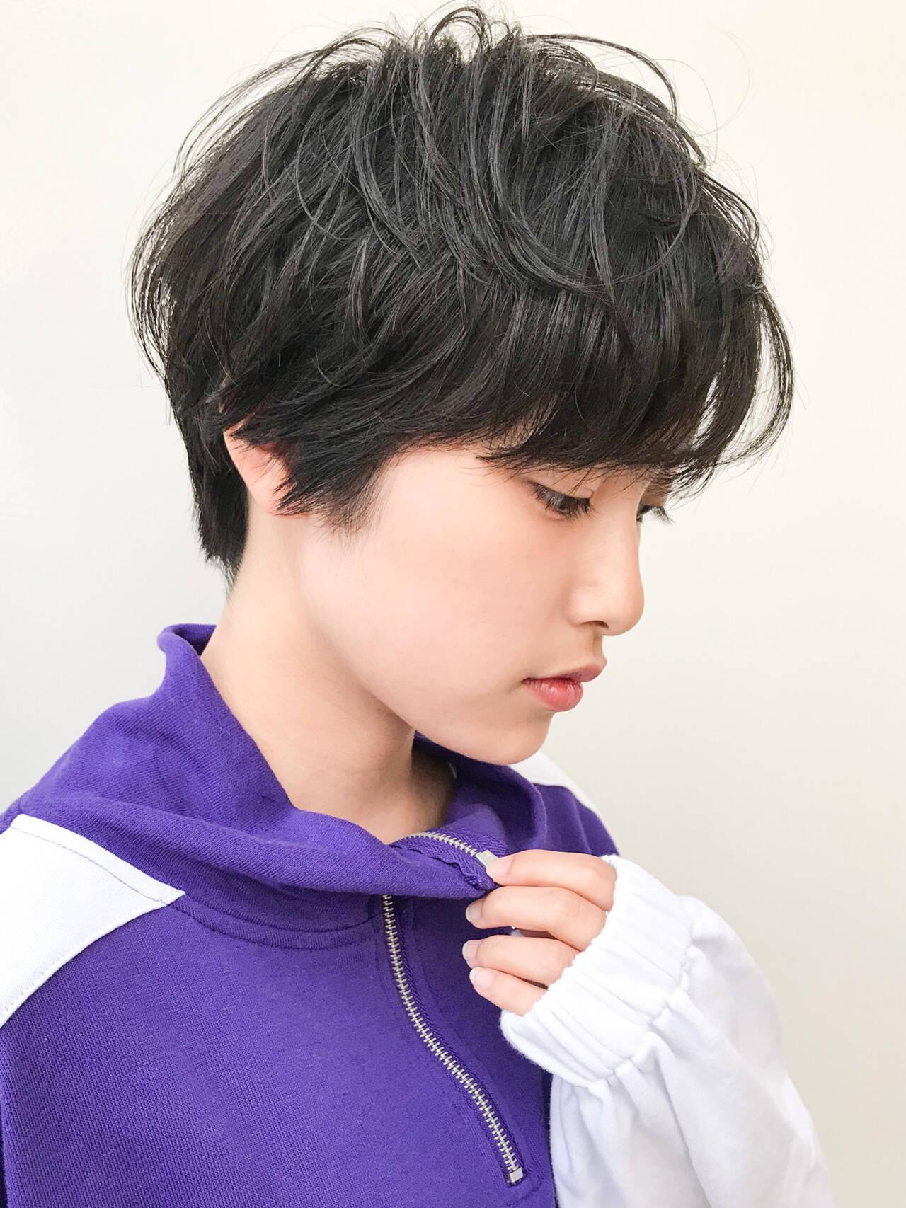 ショート コンサバ 横顔美人 デートヘアスタイルや髪型の写真・画像