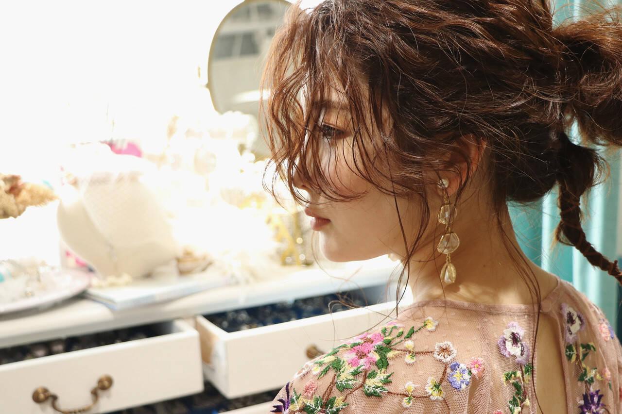 ハイライト 結婚式ヘアアレンジ ポニーテール ローポニーテールヘアスタイルや髪型の写真・画像