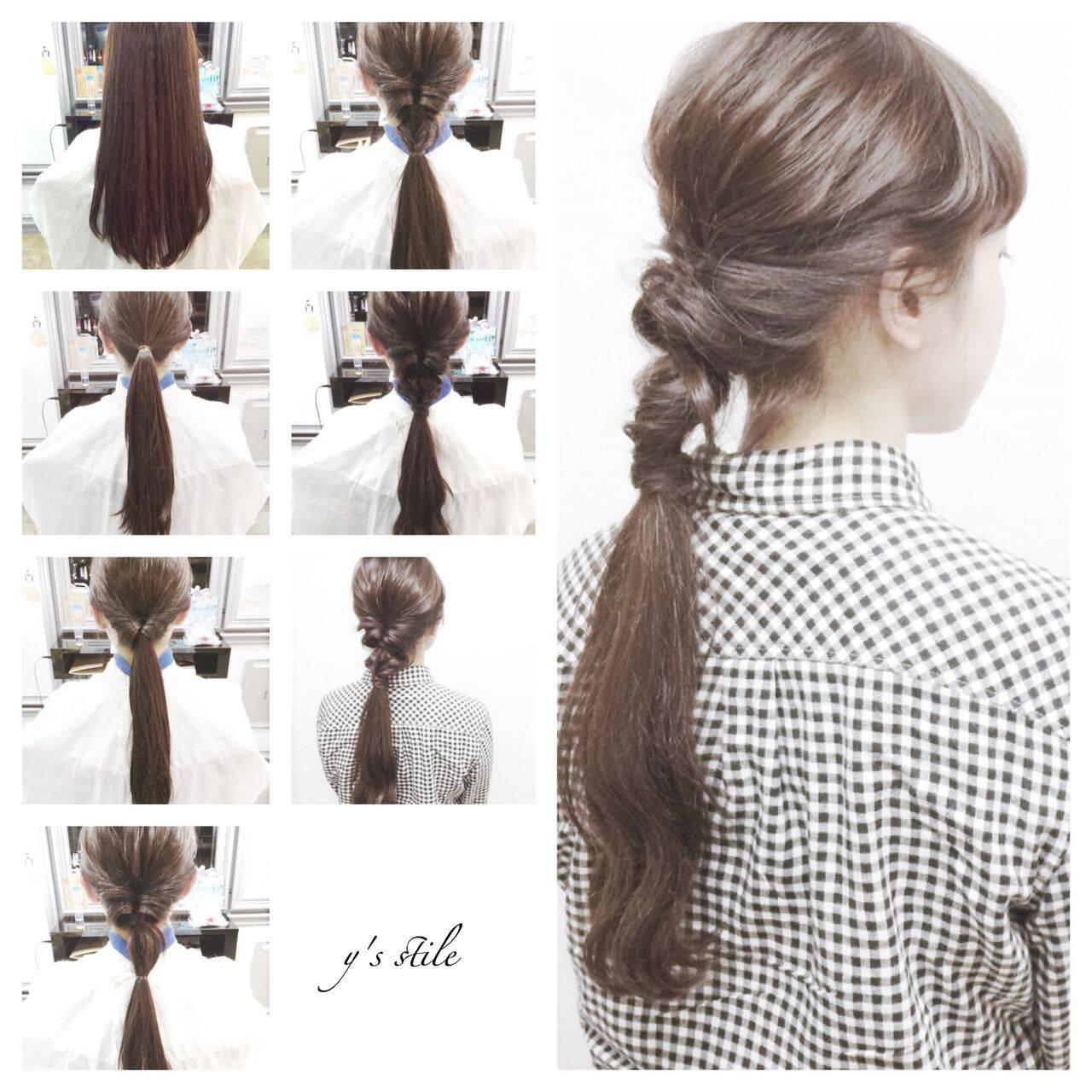 春 アップスタイル ヘアアレンジ ストリートヘアスタイルや髪型の写真・画像