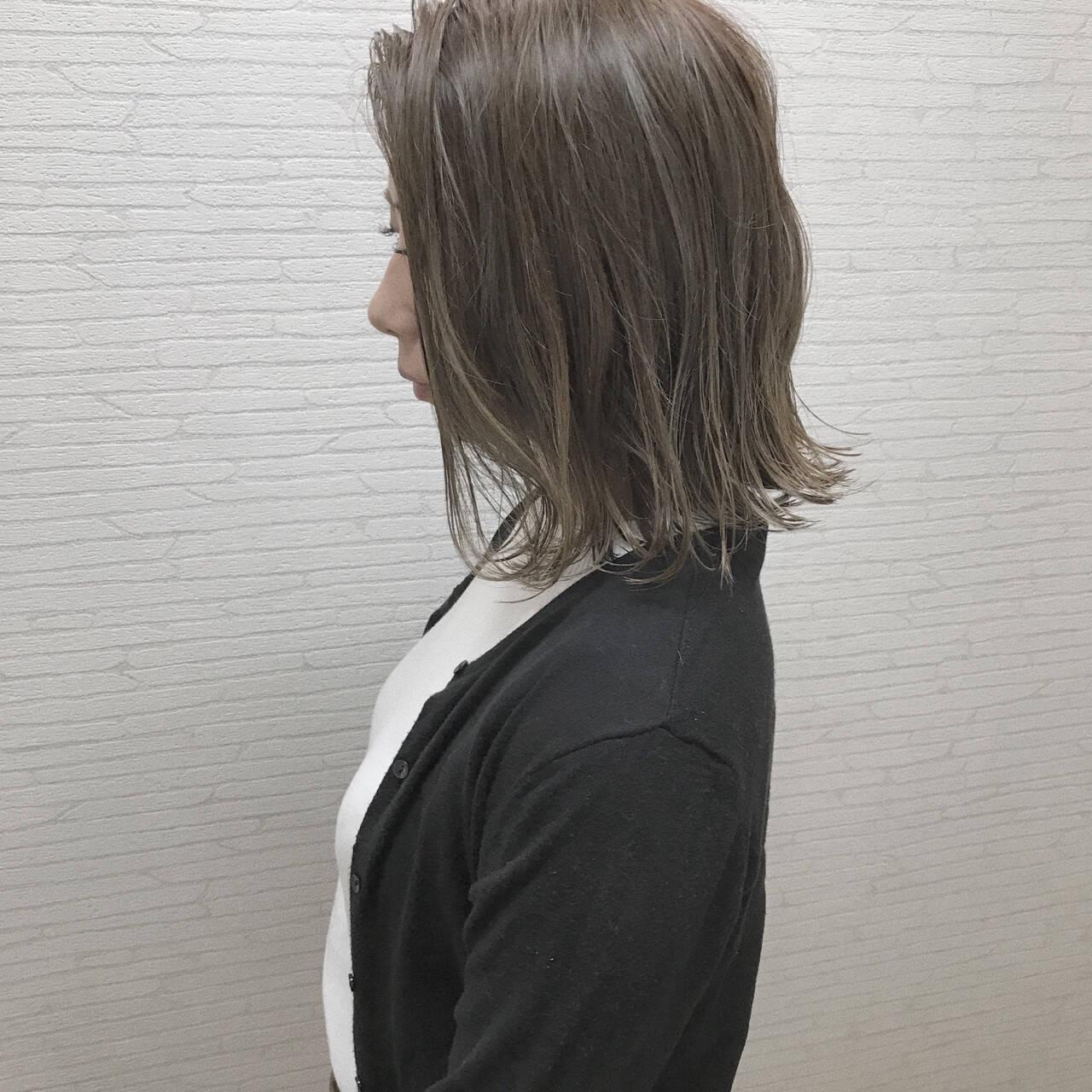 涼しげ 切りっぱなし 外国人風カラー ヘアアレンジヘアスタイルや髪型の写真・画像