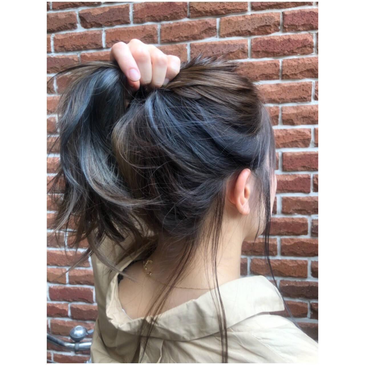 インナーカラー 3Dカラー ロング 大人女子ヘアスタイルや髪型の写真・画像
