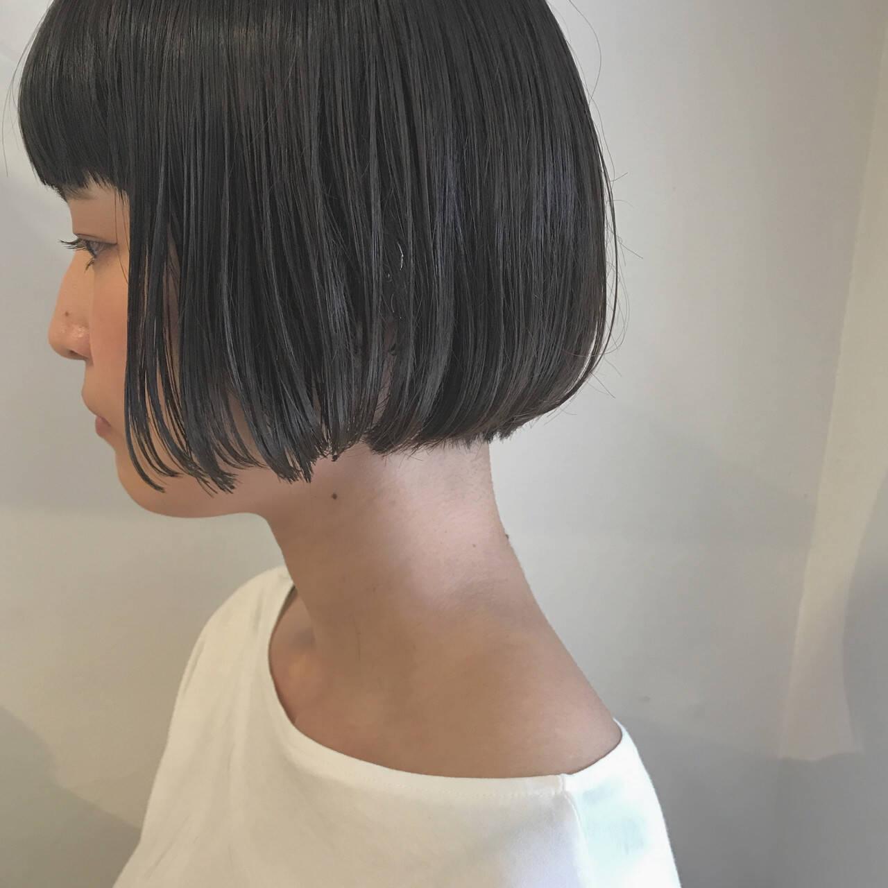 ナチュラル 透明感 ショート ショートボブヘアスタイルや髪型の写真・画像