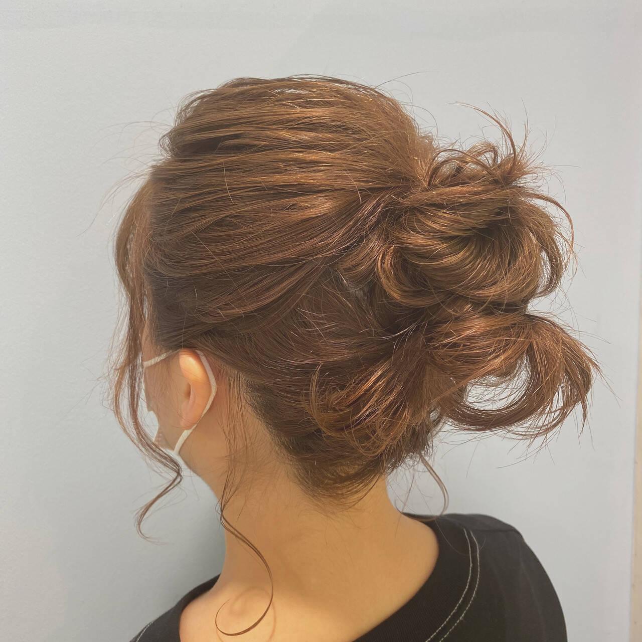 ヘアアレンジ ナチュラル ボブ 簡単ヘアアレンジヘアスタイルや髪型の写真・画像