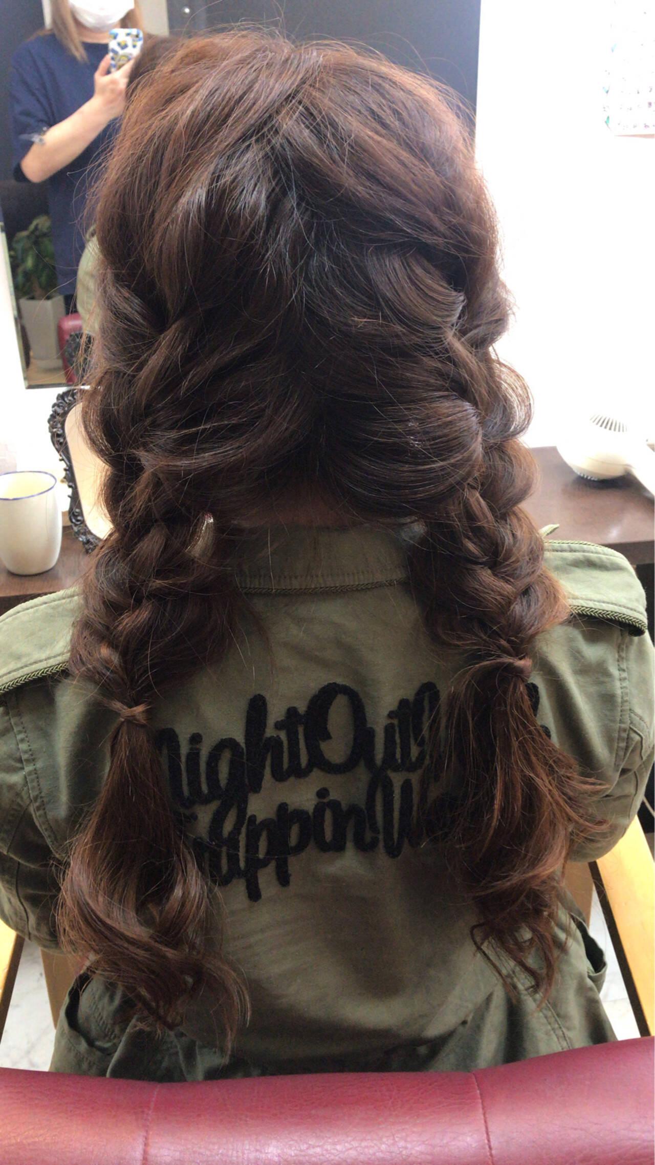 可愛い ヘアアレンジ モテ髪 簡単ヘアアレンジヘアスタイルや髪型の写真・画像
