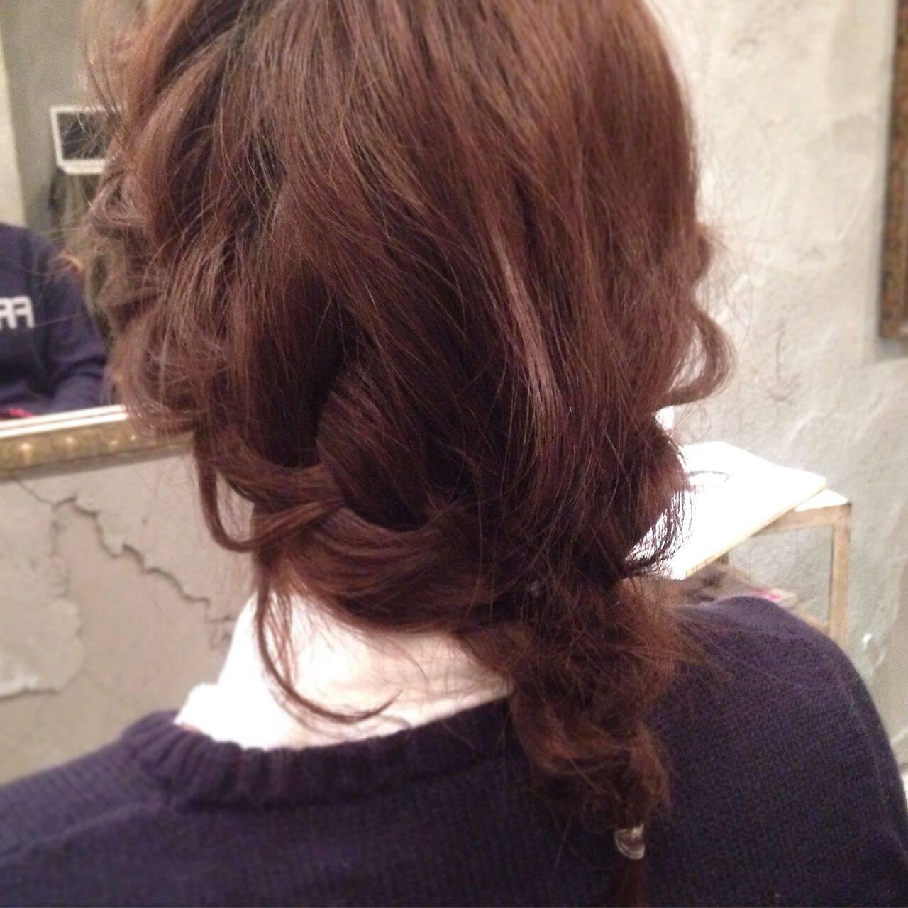愛され ヘアアレンジ 簡単ヘアアレンジ ショートヘアスタイルや髪型の写真・画像