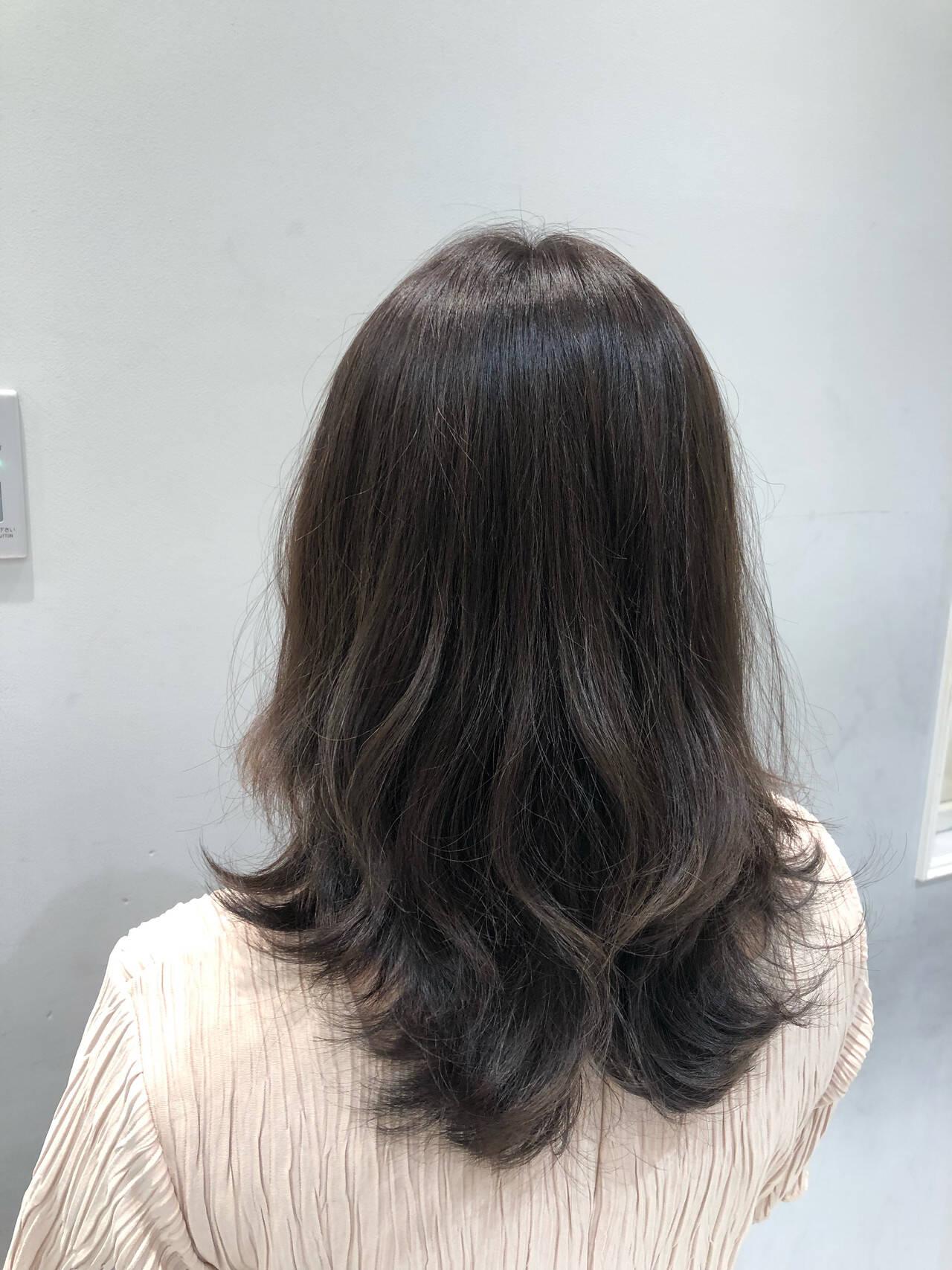 ナチュラルデジパ フェミニン デジタルパーマ 無造作パーマヘアスタイルや髪型の写真・画像