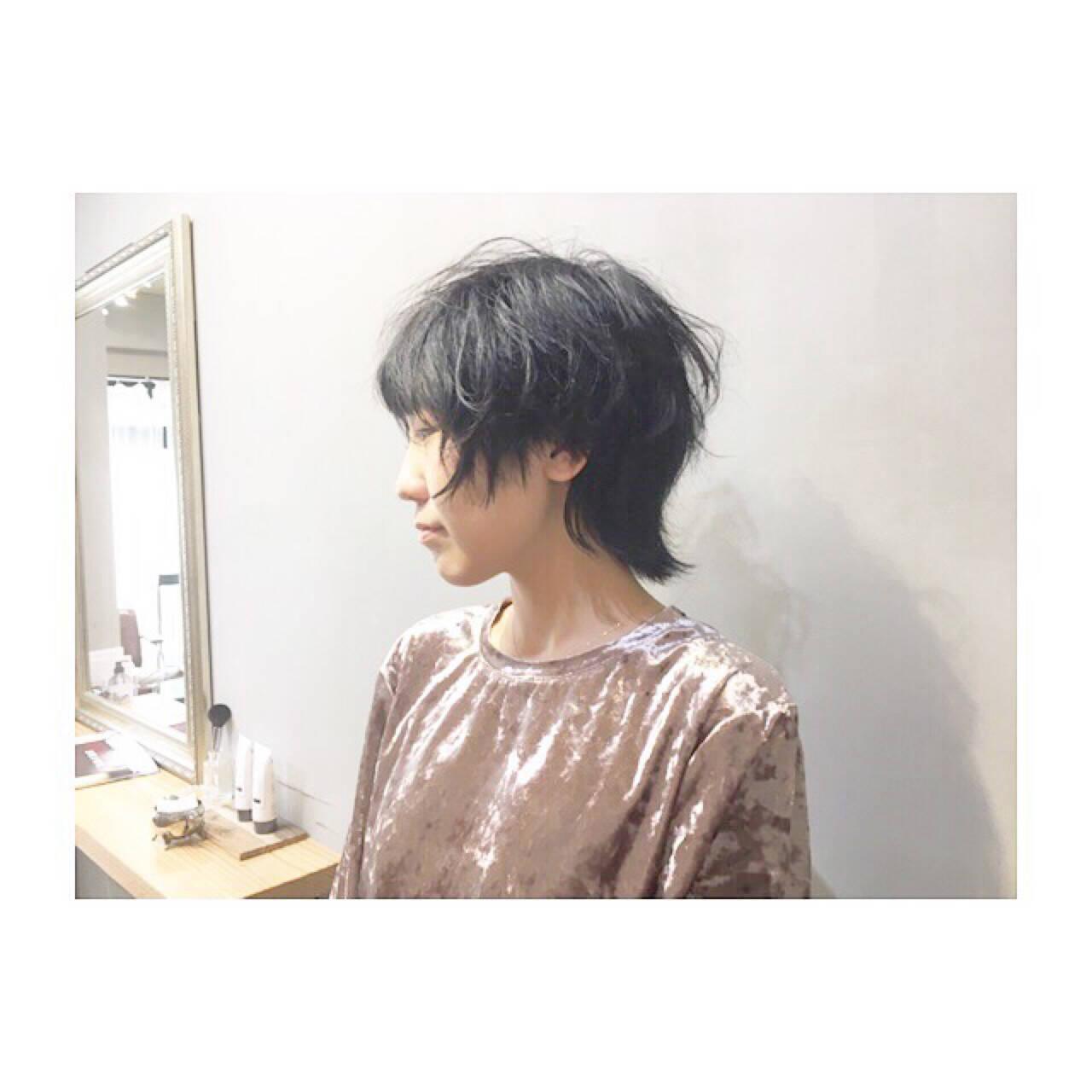 外国人風カラー 色気 マッシュ ホワイトアッシュヘアスタイルや髪型の写真・画像