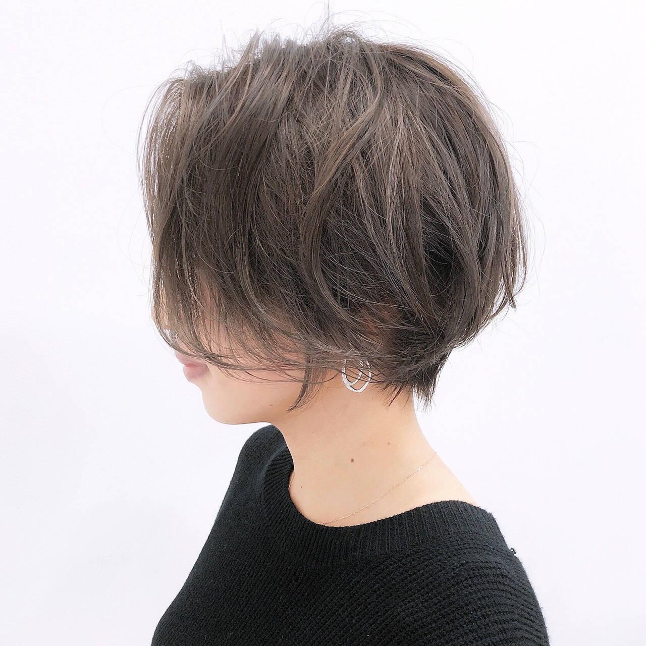 丸みショート ショート 大人ショート ショートボブヘアスタイルや髪型の写真・画像