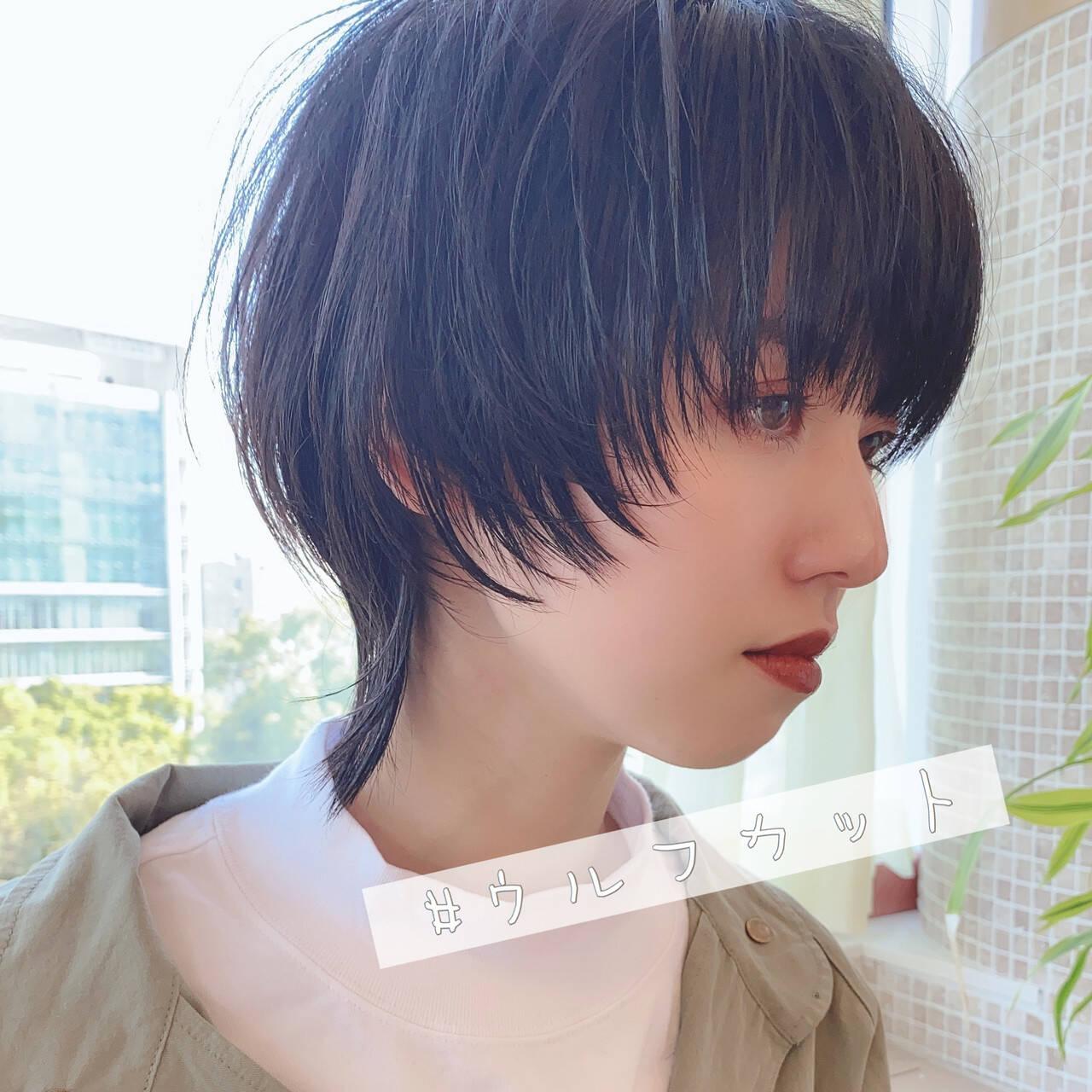 ナチュラル ショート ベリーショート ウルフカットヘアスタイルや髪型の写真・画像