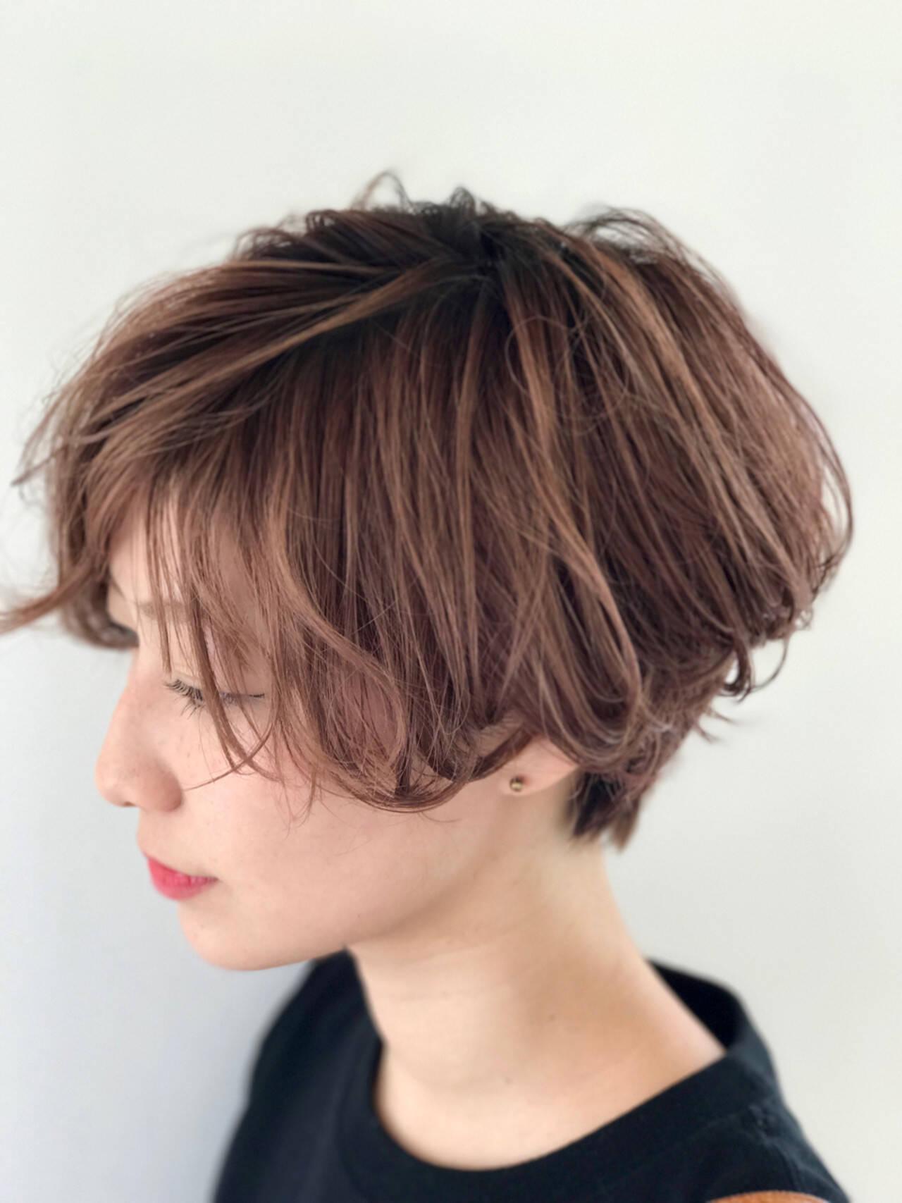 ヘアアレンジ デート 大人かわいい ショートヘアスタイルや髪型の写真・画像