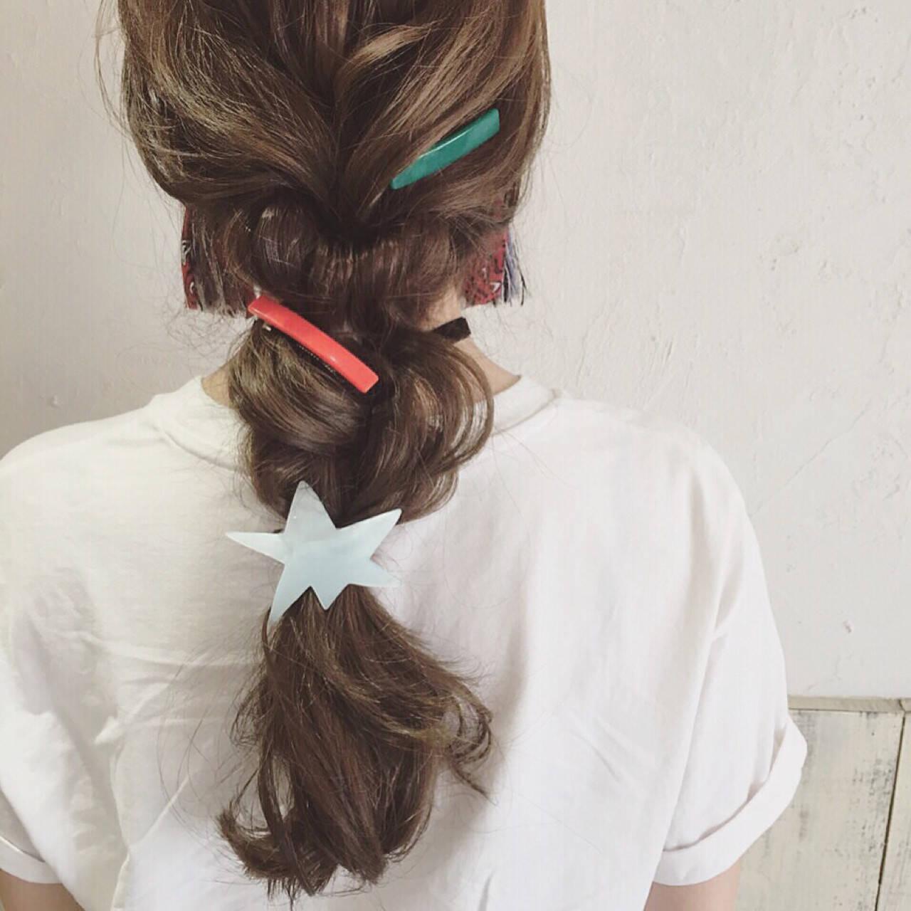 逆りんぱ ショート ロング 三つ編みヘアスタイルや髪型の写真・画像