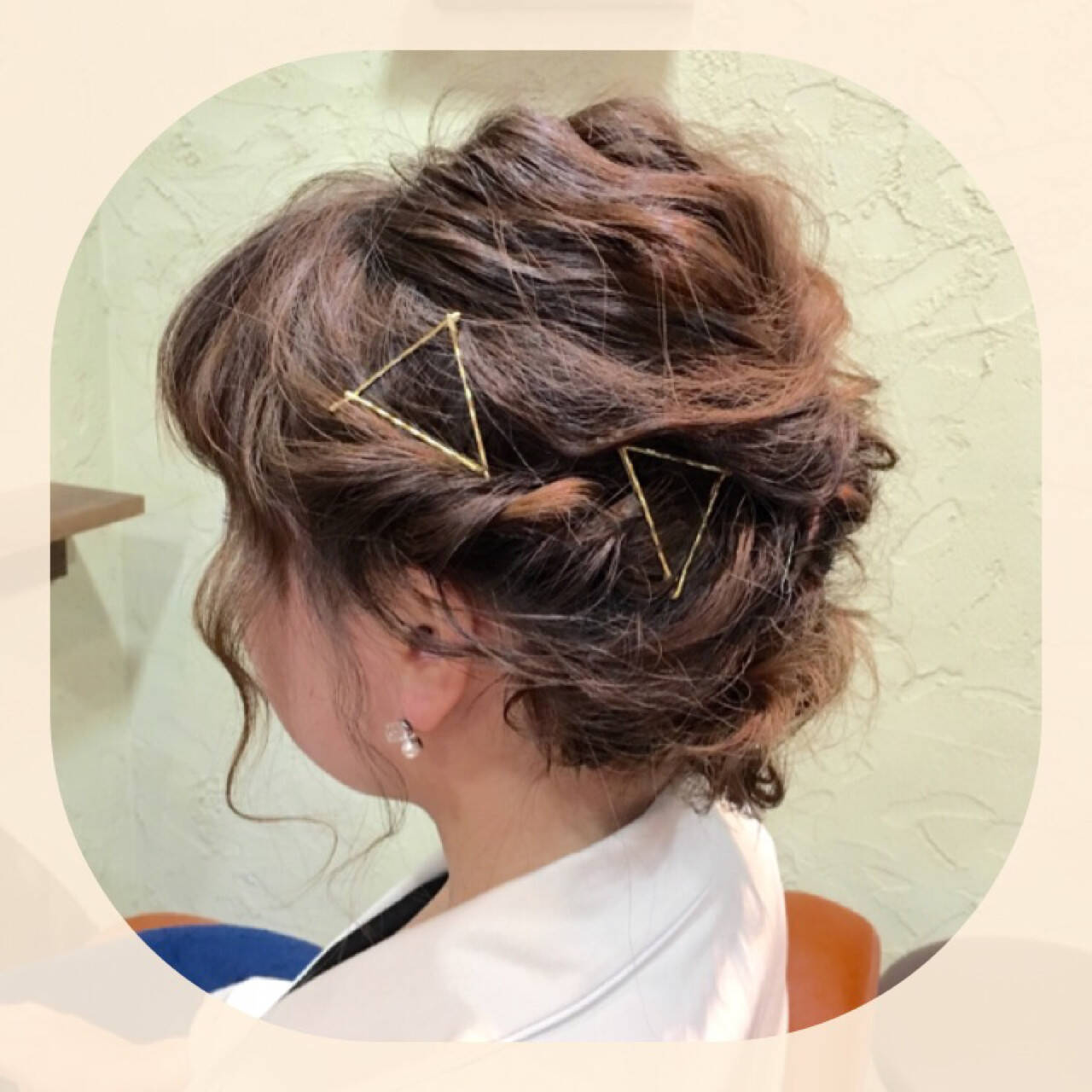 ラフ ボブ ヘアアレンジ 外国人風ヘアスタイルや髪型の写真・画像