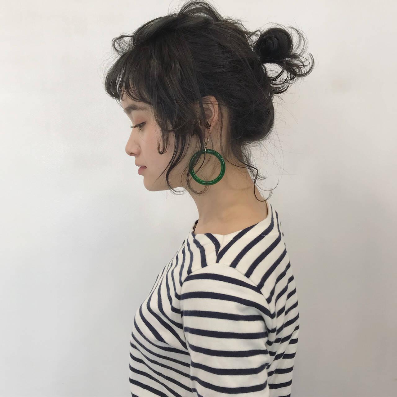 簡単ヘアアレンジ バレンタイン アンニュイ ヘアアレンジヘアスタイルや髪型の写真・画像
