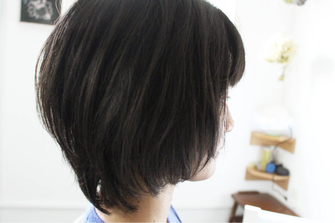 ショートボブ 大人女子 ナチュラル 色気ヘアスタイルや髪型の写真・画像