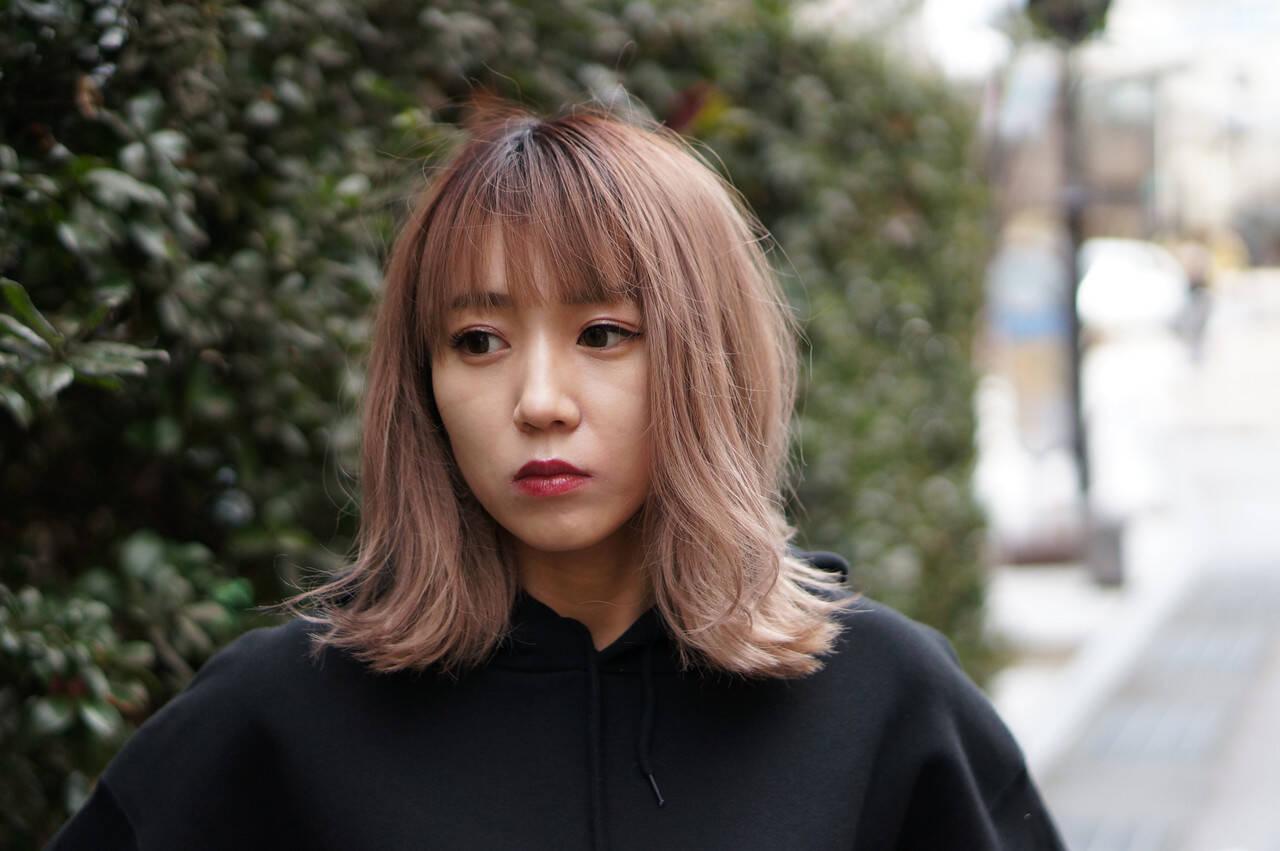 ダブルカラー ブリーチカラー 外国人風カラー ブリーチオンカラーヘアスタイルや髪型の写真・画像