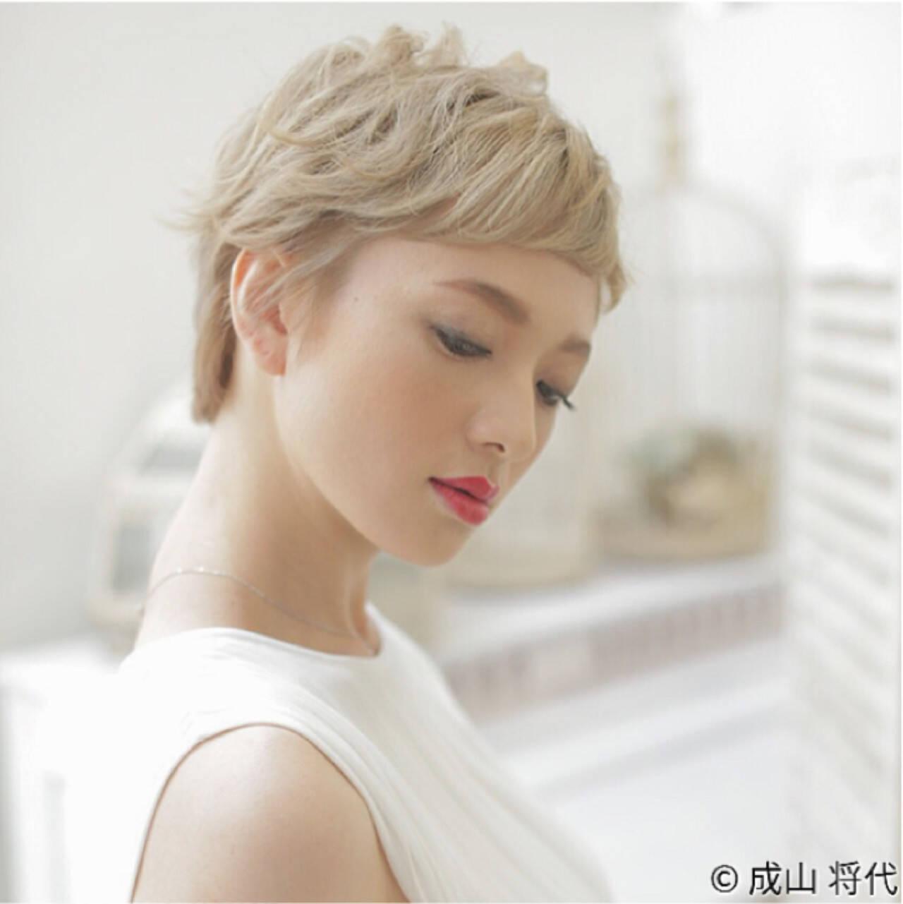 大人かわいい ショート 外国人風 ストリートヘアスタイルや髪型の写真・画像