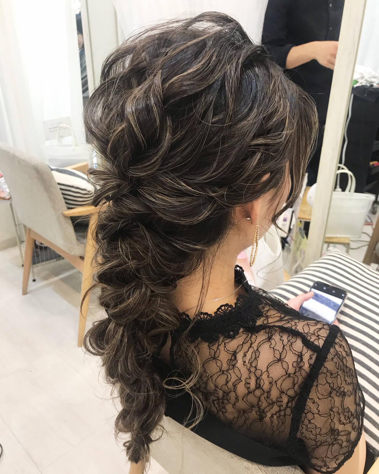結婚式ヘアアレンジ ロング ヘアアレンジ ガーリーヘアスタイルや髪型の写真・画像