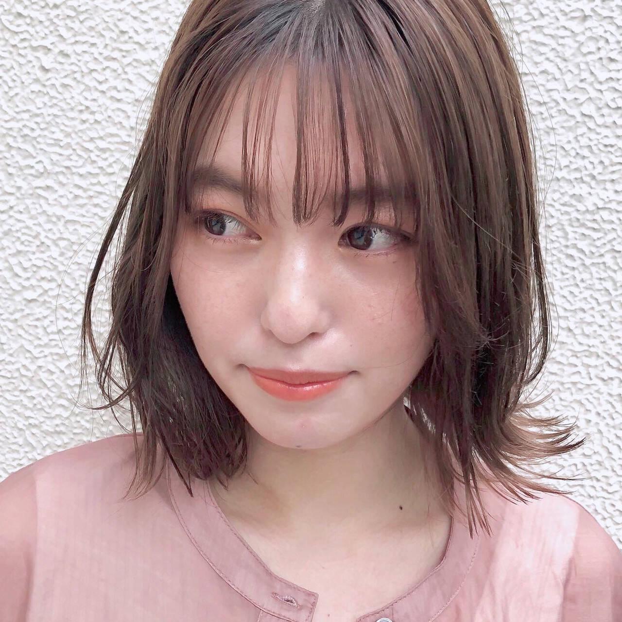 デジタルパーマ デート モテ髪 ナチュラルヘアスタイルや髪型の写真・画像