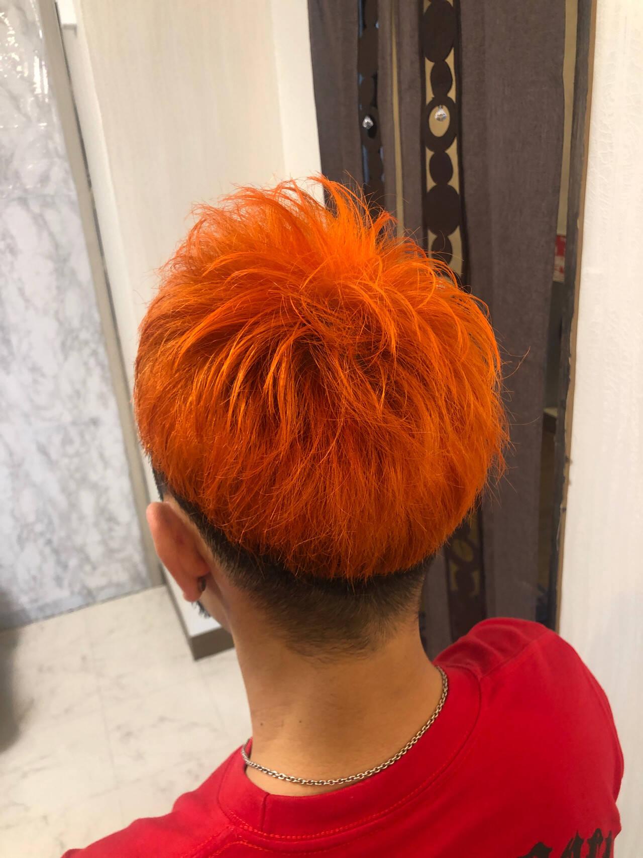ダブルカラー ガーリー ベリーショート メンズヘアスタイルや髪型の写真・画像