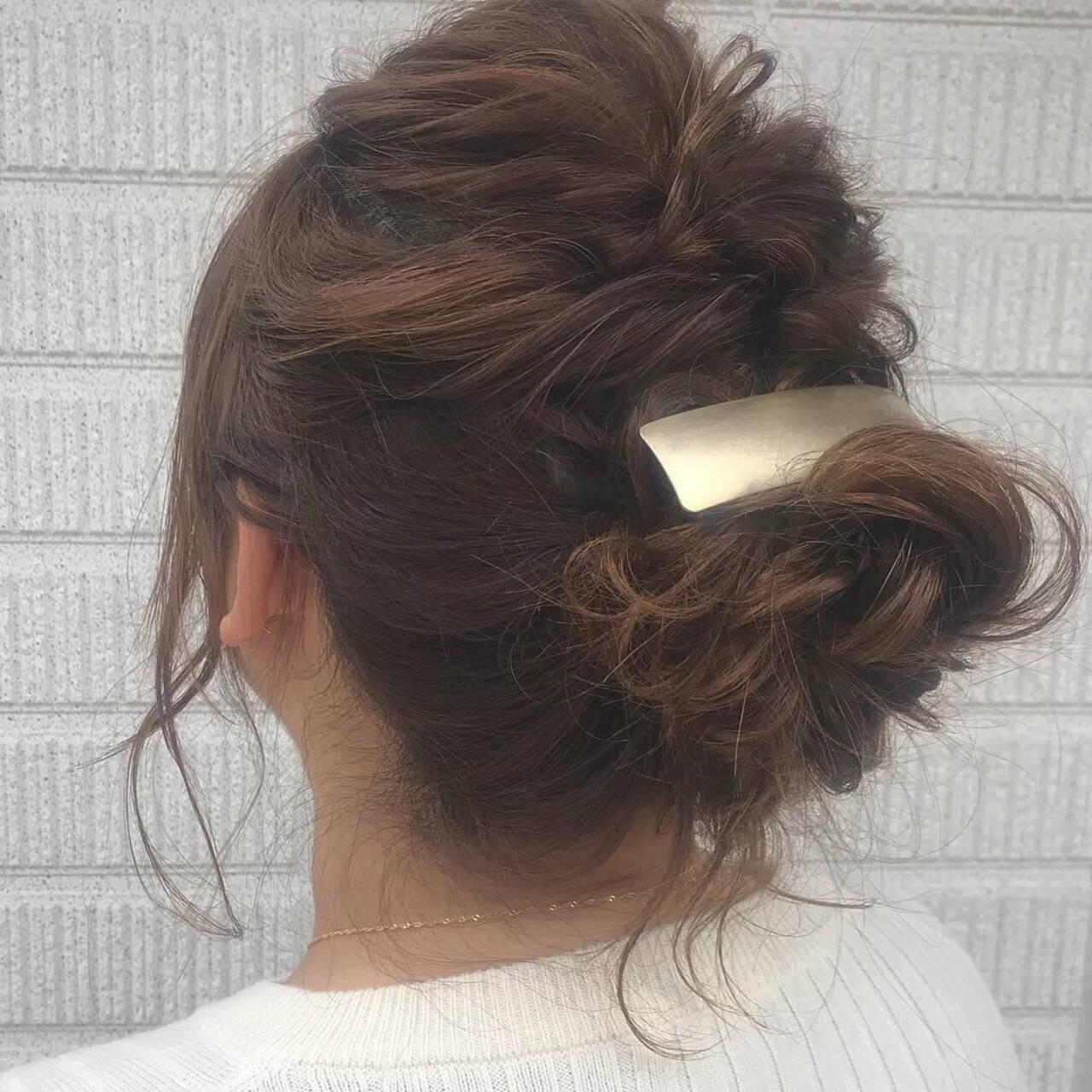 ロング ガーリー 結婚式 二次会ヘアヘアスタイルや髪型の写真・画像