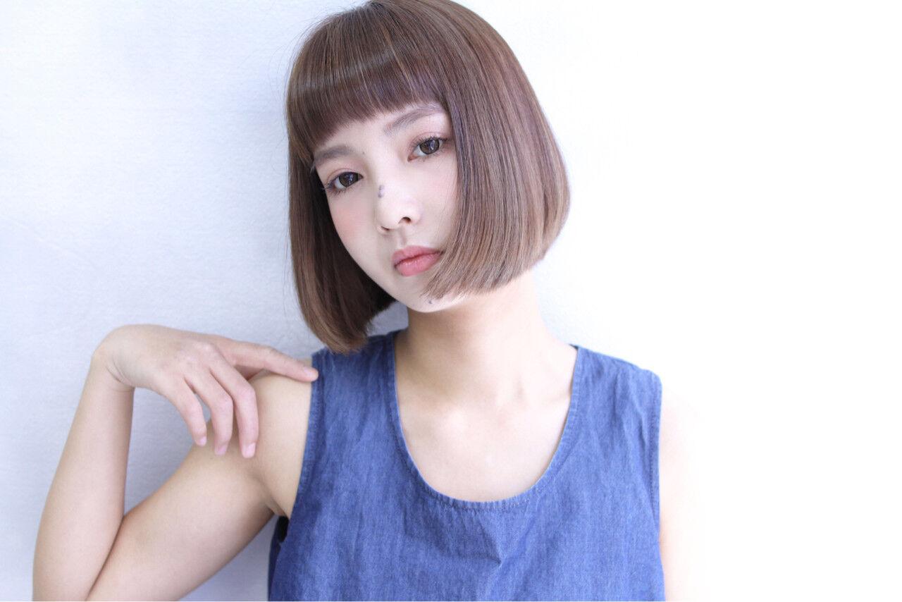 前髪あり ナチュラル 外国人風 ボブヘアスタイルや髪型の写真・画像