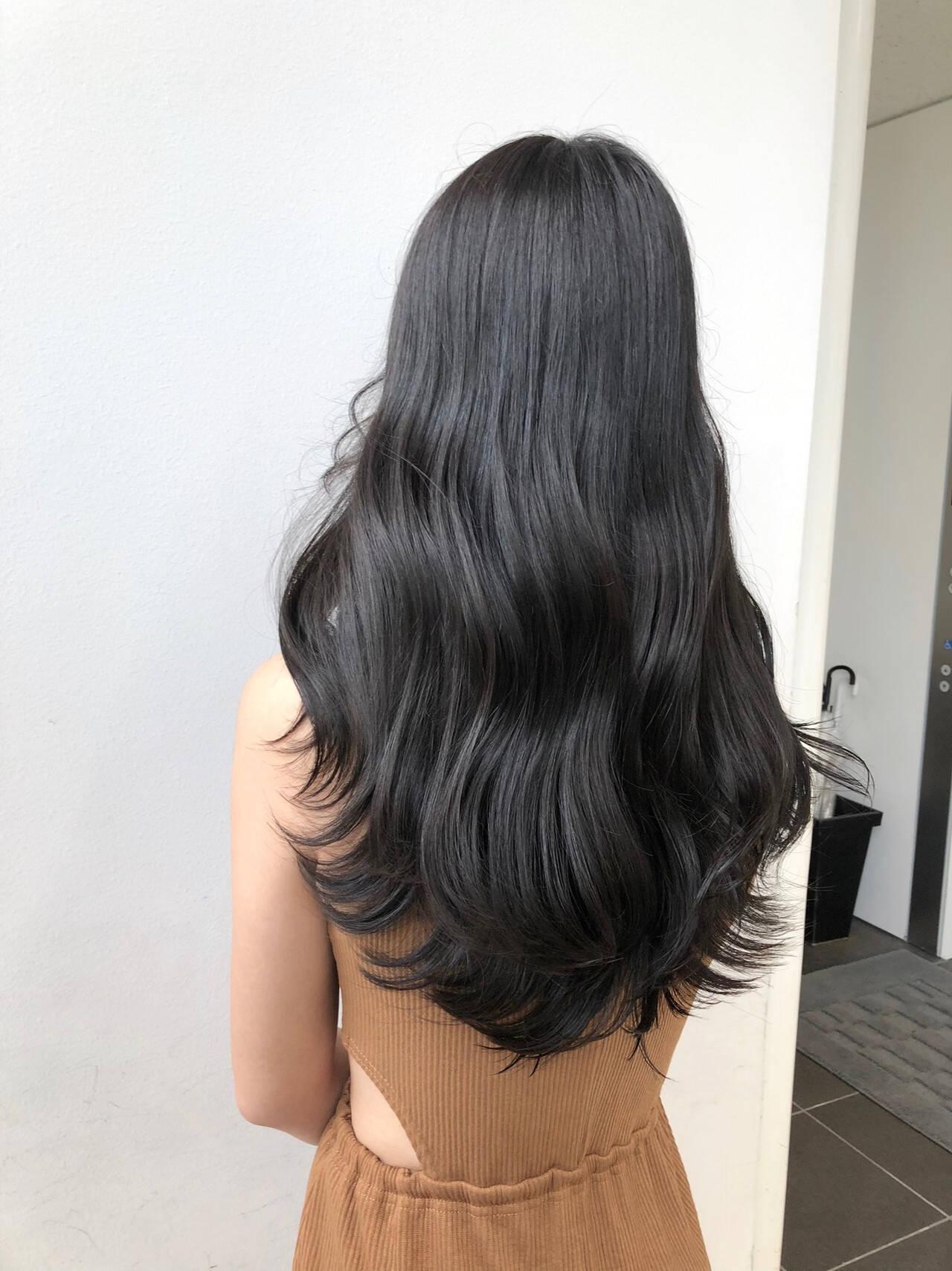 韓国風ヘアー 韓国ヘア ナチュラル タンバルモリヘアスタイルや髪型の写真・画像