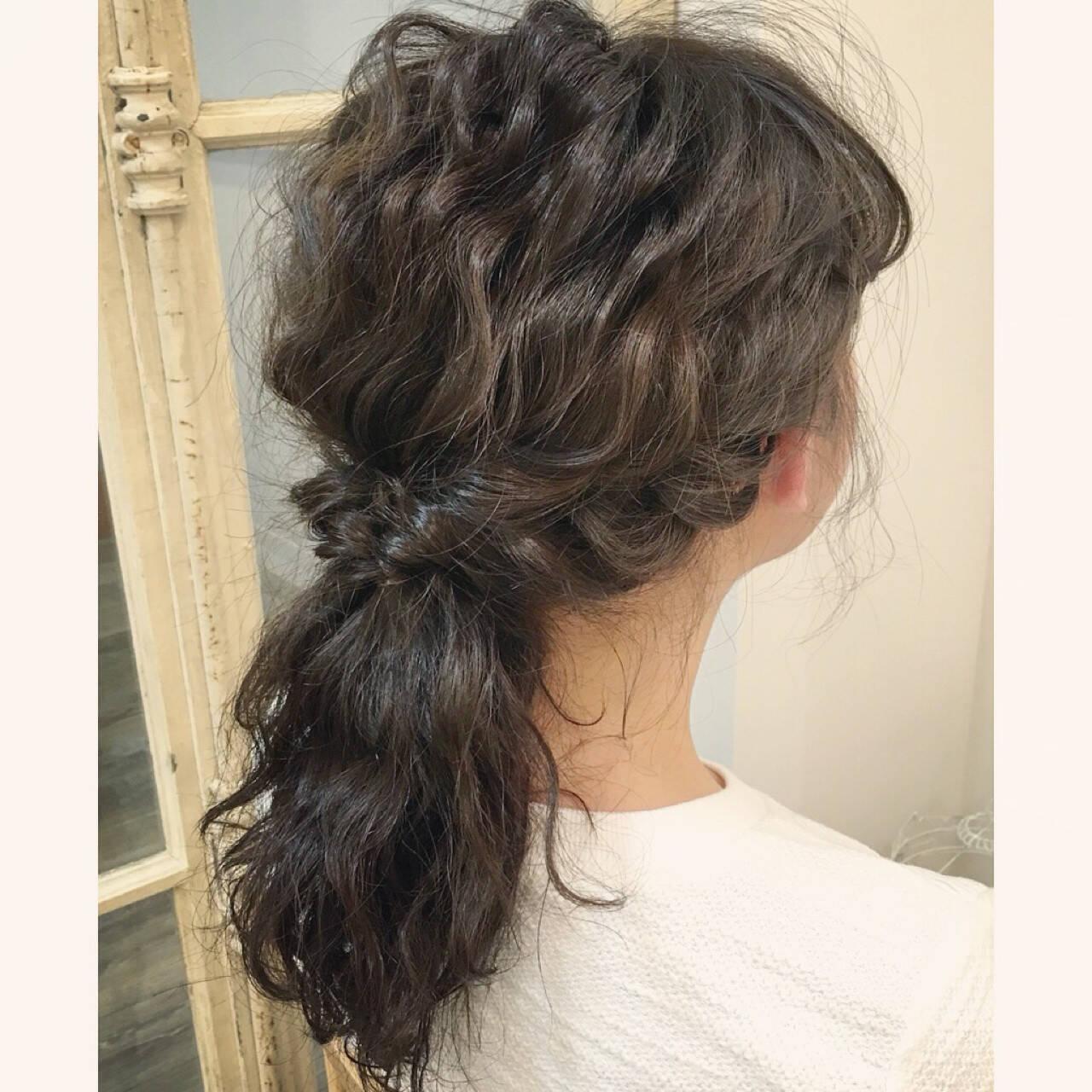 ヘアアレンジ ストリート 二次会 ポニーテールヘアスタイルや髪型の写真・画像