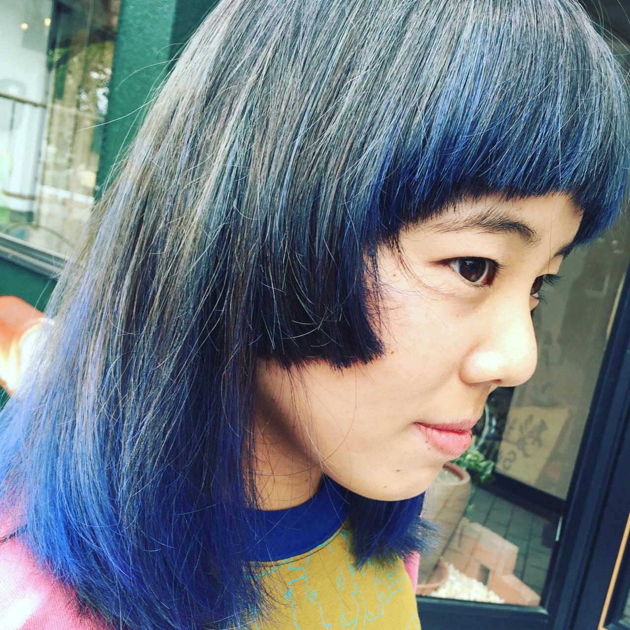 ハイライト アッシュ ストリート ダブルカラーヘアスタイルや髪型の写真・画像