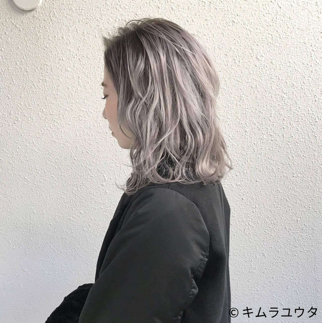 モード 外国人風 ブリーチ ホワイトヘアスタイルや髪型の写真・画像