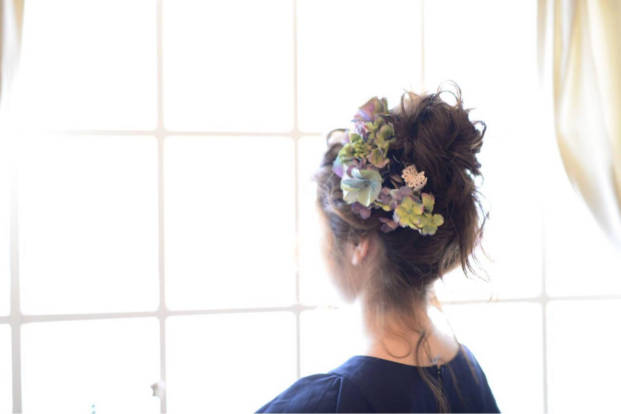 モテ髪 夏 愛され 結婚式ヘアスタイルや髪型の写真・画像