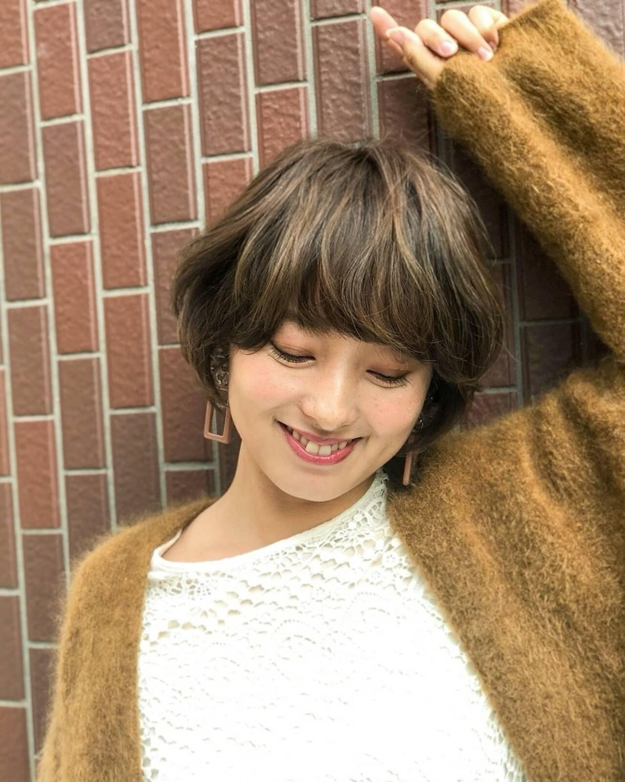 マッシュ ハイライト 大人かわいい アッシュヘアスタイルや髪型の写真・画像