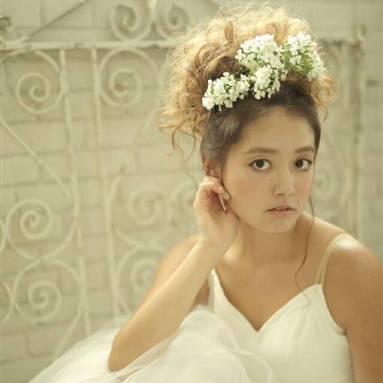 結婚式 愛され ヘアアレンジ モテ髪ヘアスタイルや髪型の写真・画像