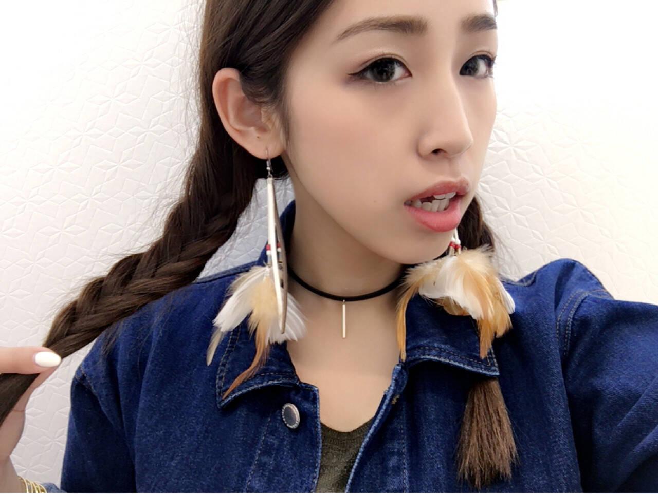 外国人風 ショート ヘアアレンジ セミロングヘアスタイルや髪型の写真・画像