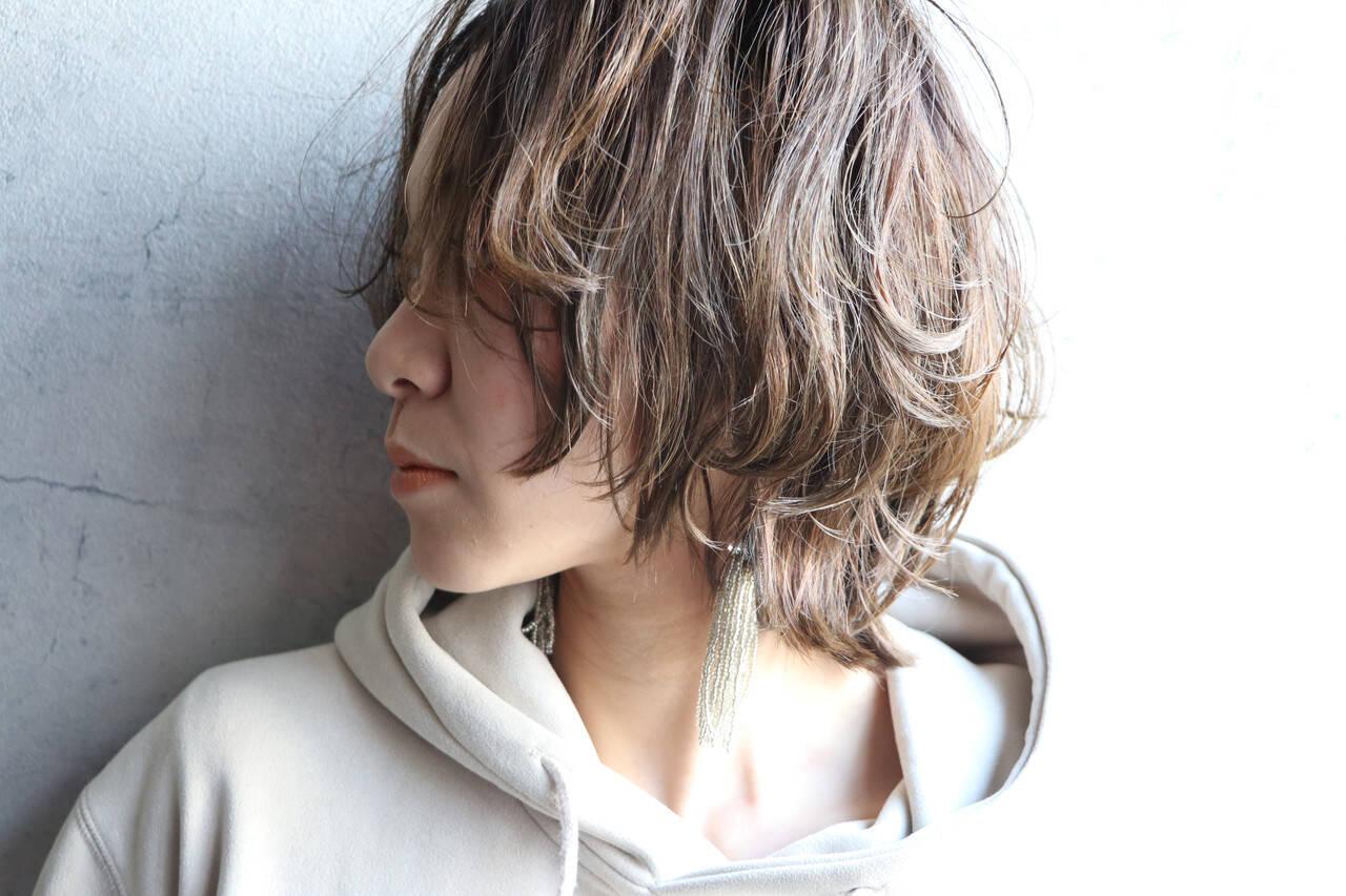 大人かわいい ショート レイヤースタイル ウルフカットヘアスタイルや髪型の写真・画像
