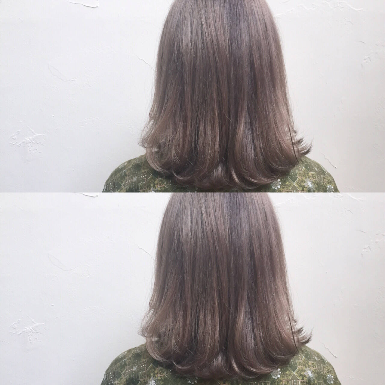 ハイライト ナチュラル ボブ フェミニンヘアスタイルや髪型の写真・画像
