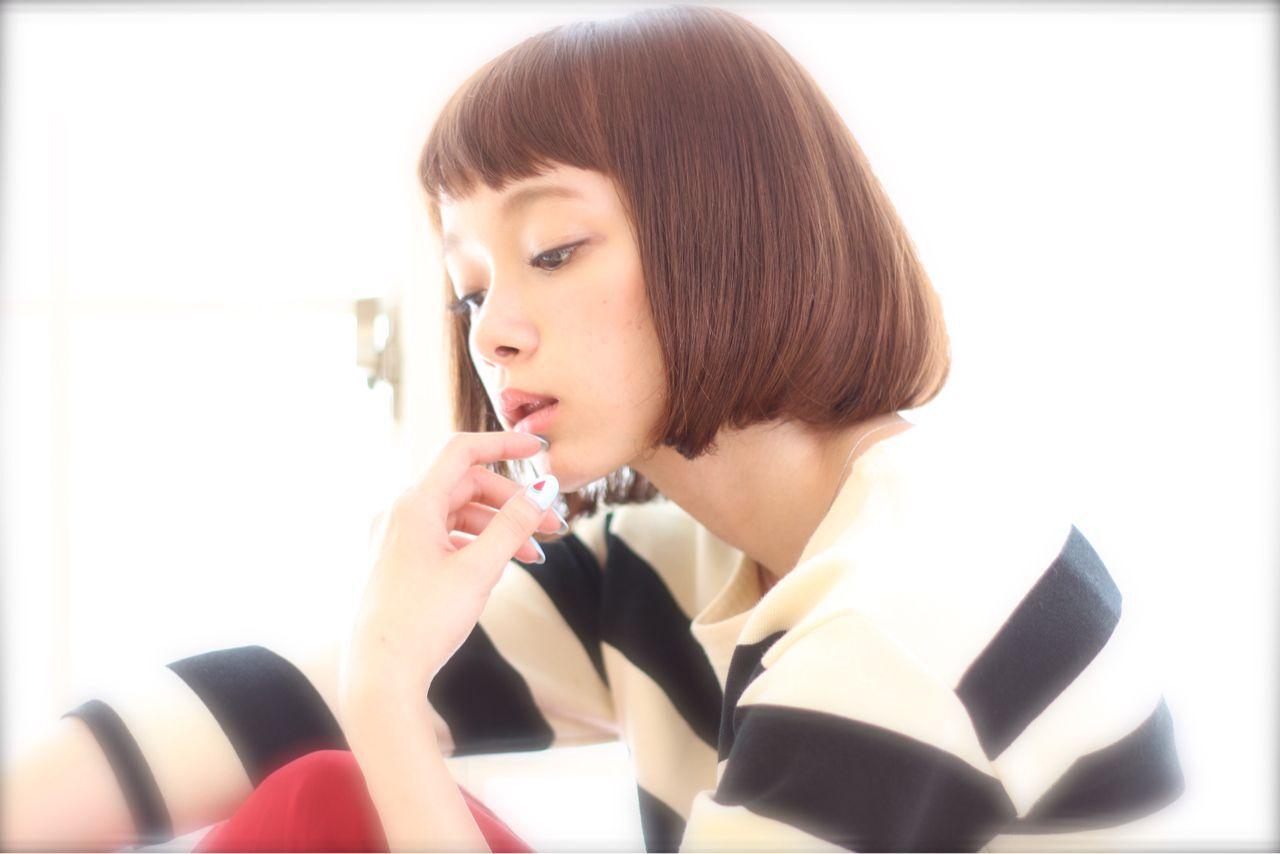 オン眉 モテ髪 ガーリー ナチュラルヘアスタイルや髪型の写真・画像