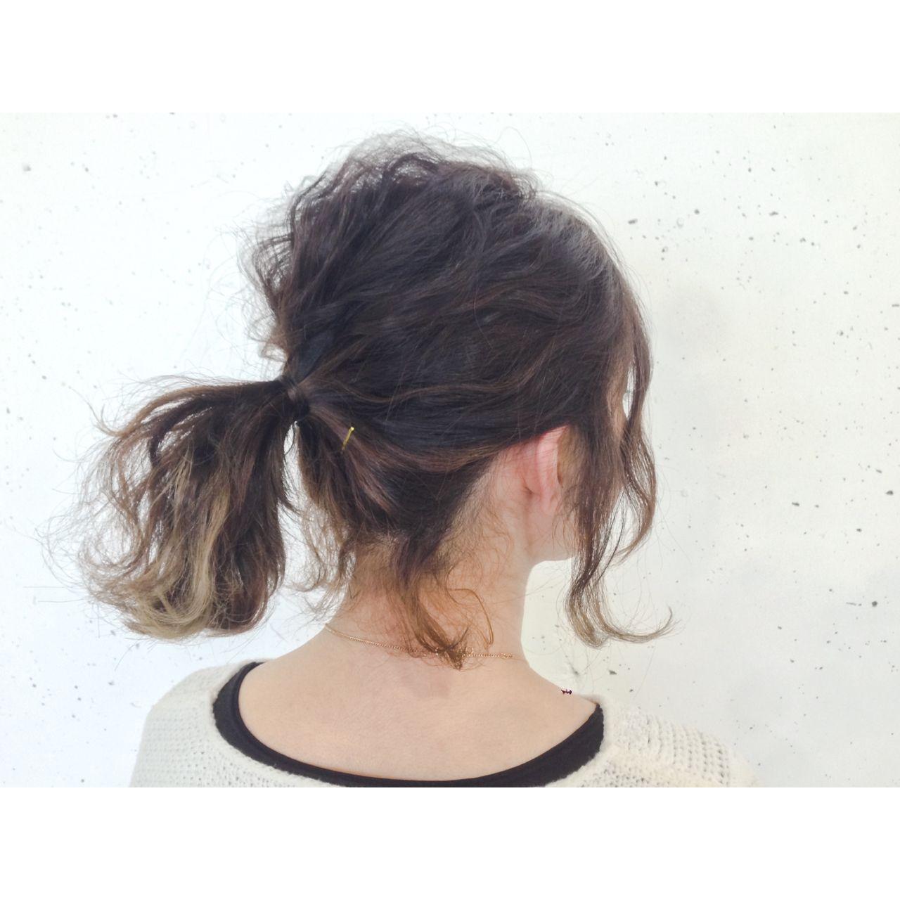 アップスタイル ヘアアレンジ ウェーブ ストリートヘアスタイルや髪型の写真・画像