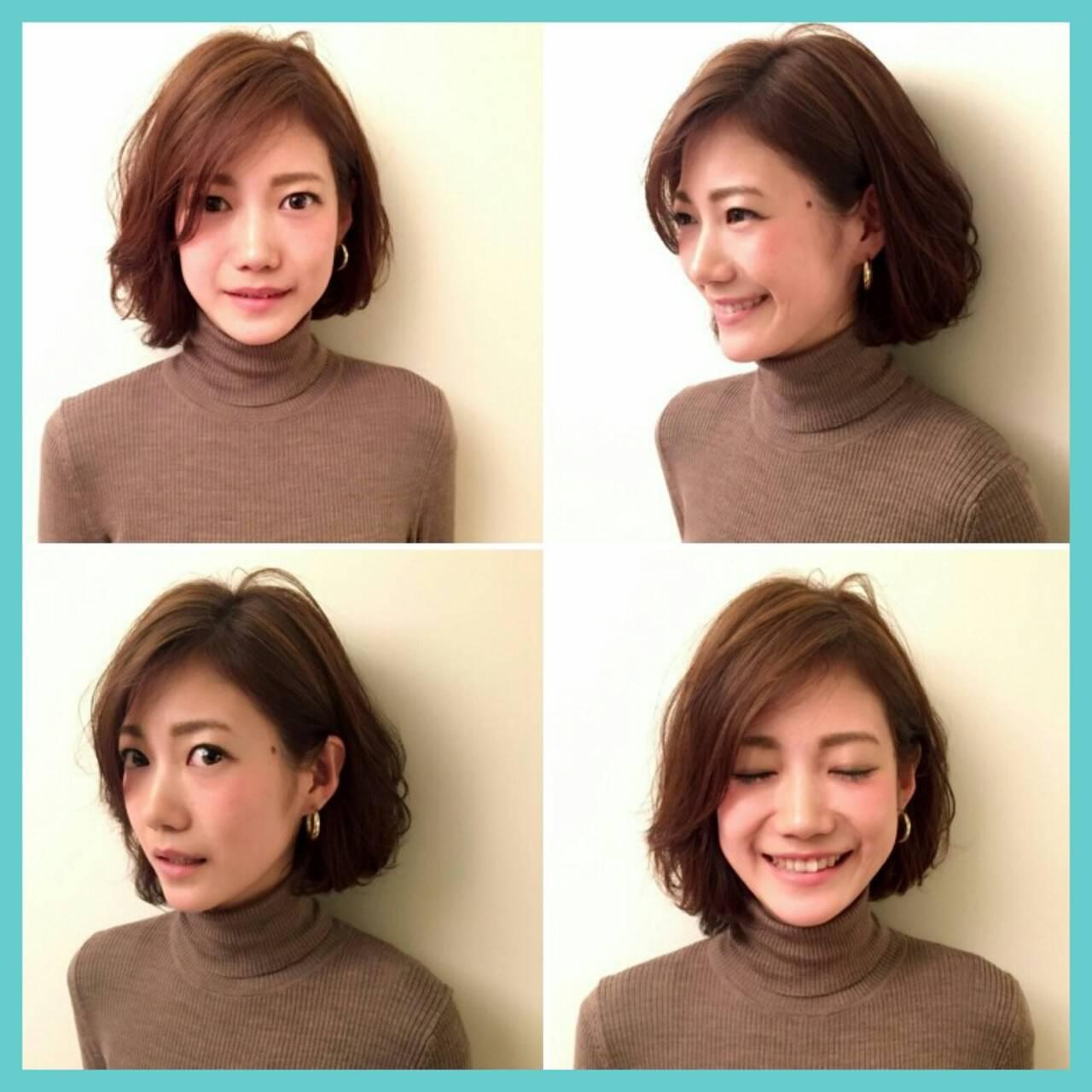 かき上げ前髪 大人女子 ラフ 前髪ありヘアスタイルや髪型の写真・画像