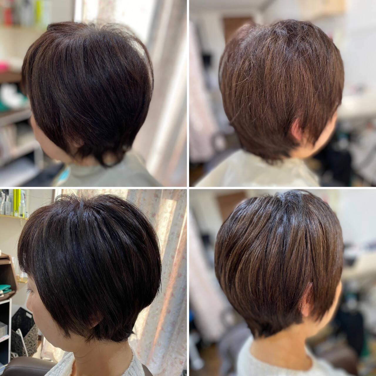 ショートボブ ショートヘア モード ベリーショートヘアスタイルや髪型の写真・画像