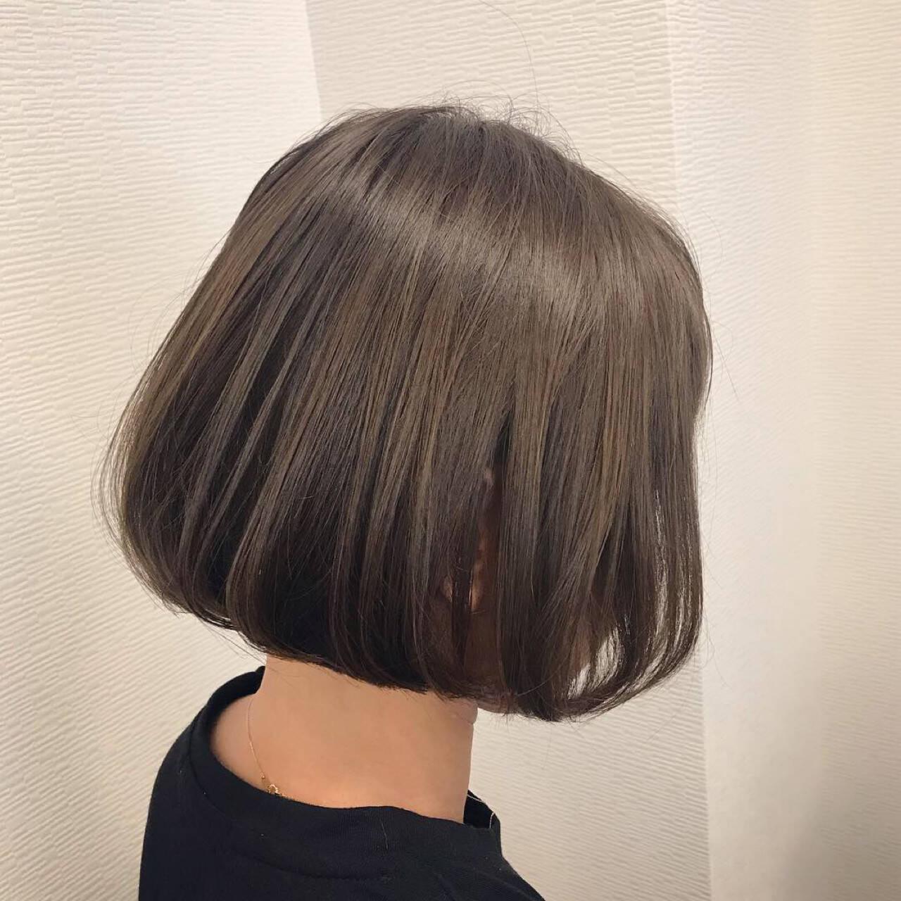デート ワンレングス 前下がり ガーリーヘアスタイルや髪型の写真・画像