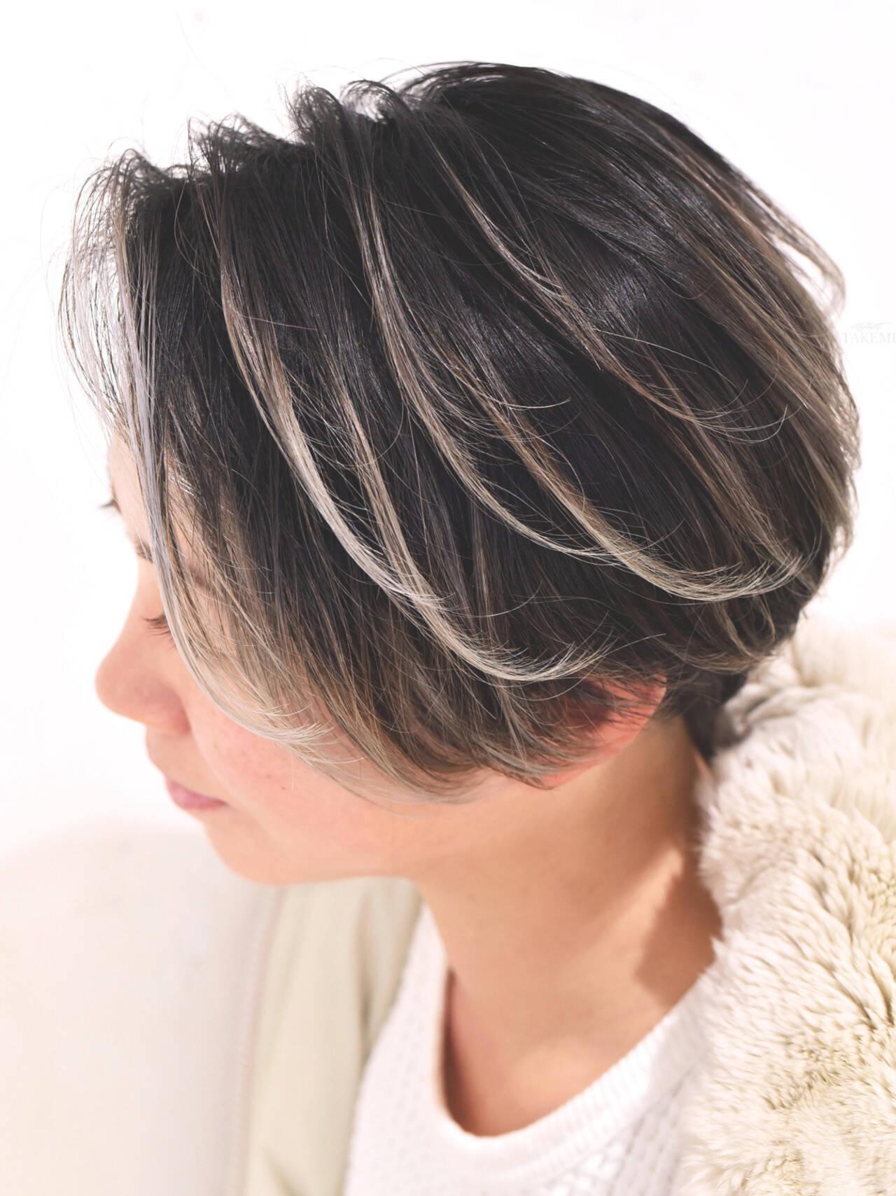 外国人風カラー ローライト グレージュ ガーリーヘアスタイルや髪型の写真・画像