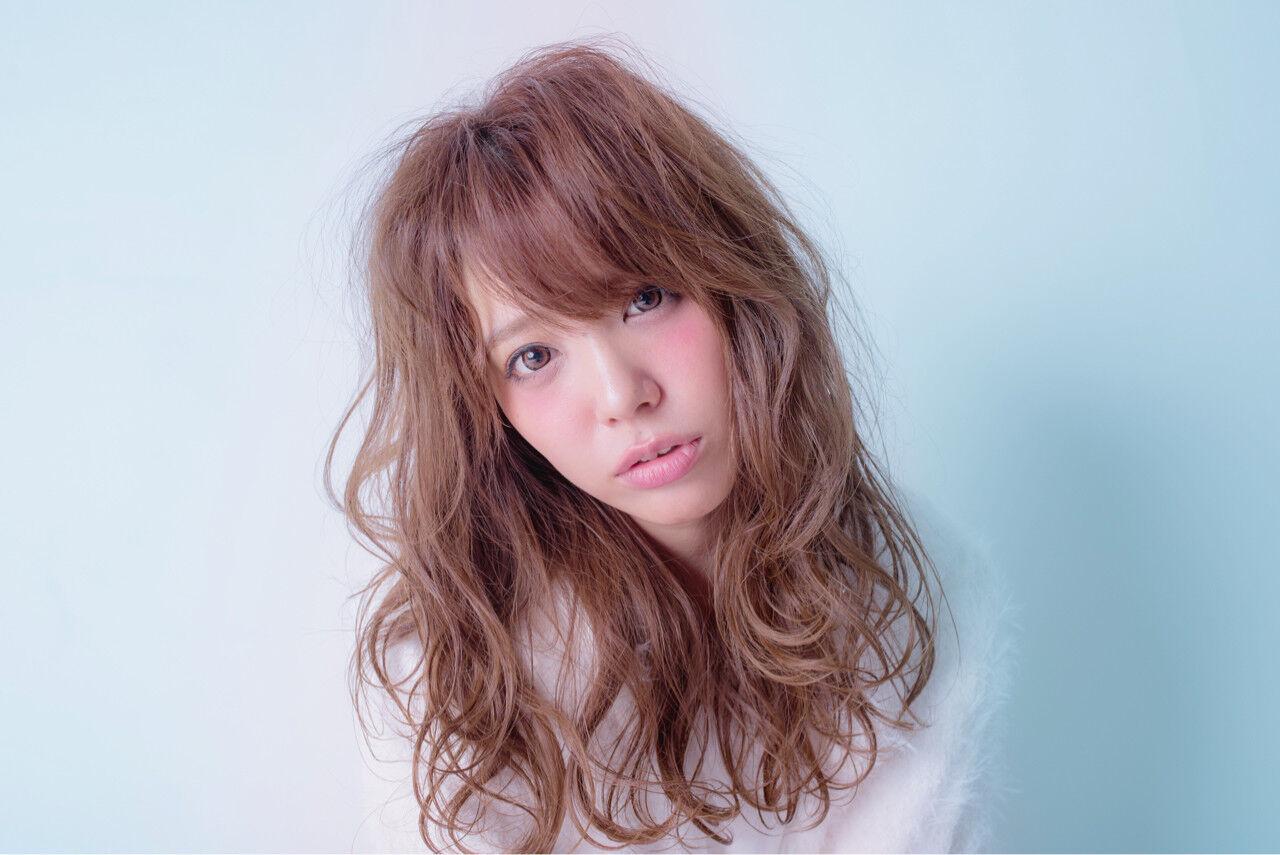 ニュアンス 小顔 大人女子 ガーリーヘアスタイルや髪型の写真・画像