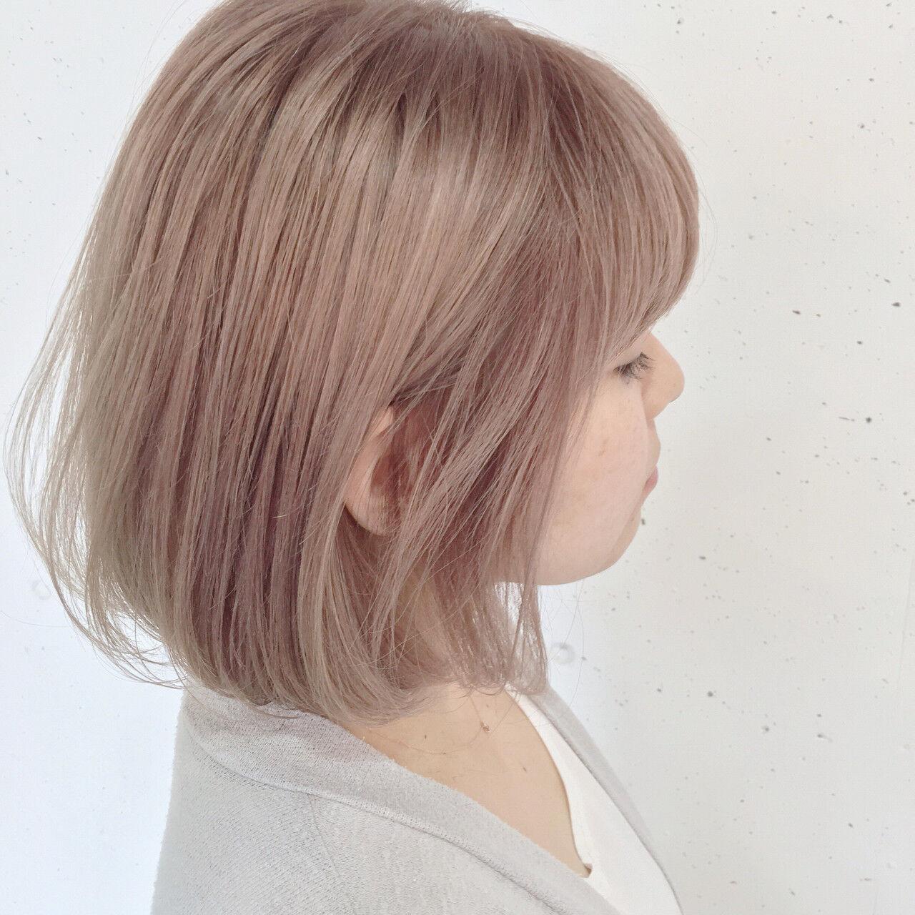 ストリート ホワイト ハイトーン ピュアヘアスタイルや髪型の写真・画像
