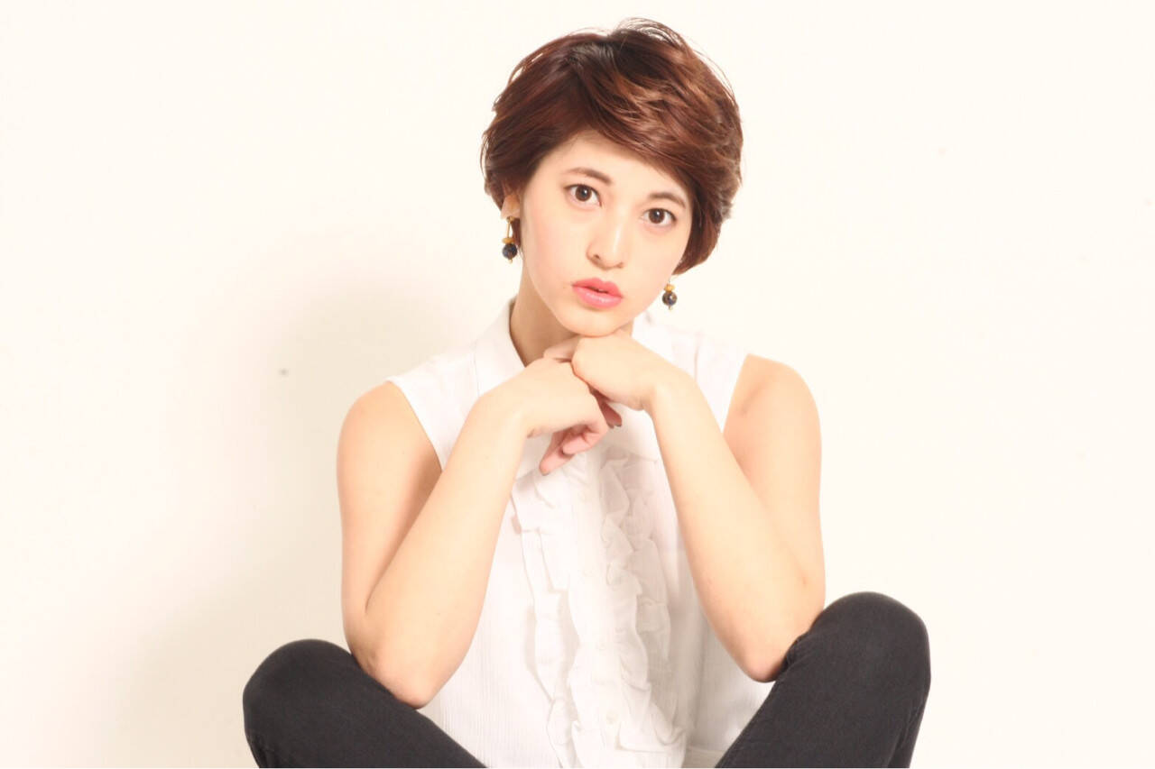 色気 ガーリー 大人女子 小顔ヘアスタイルや髪型の写真・画像