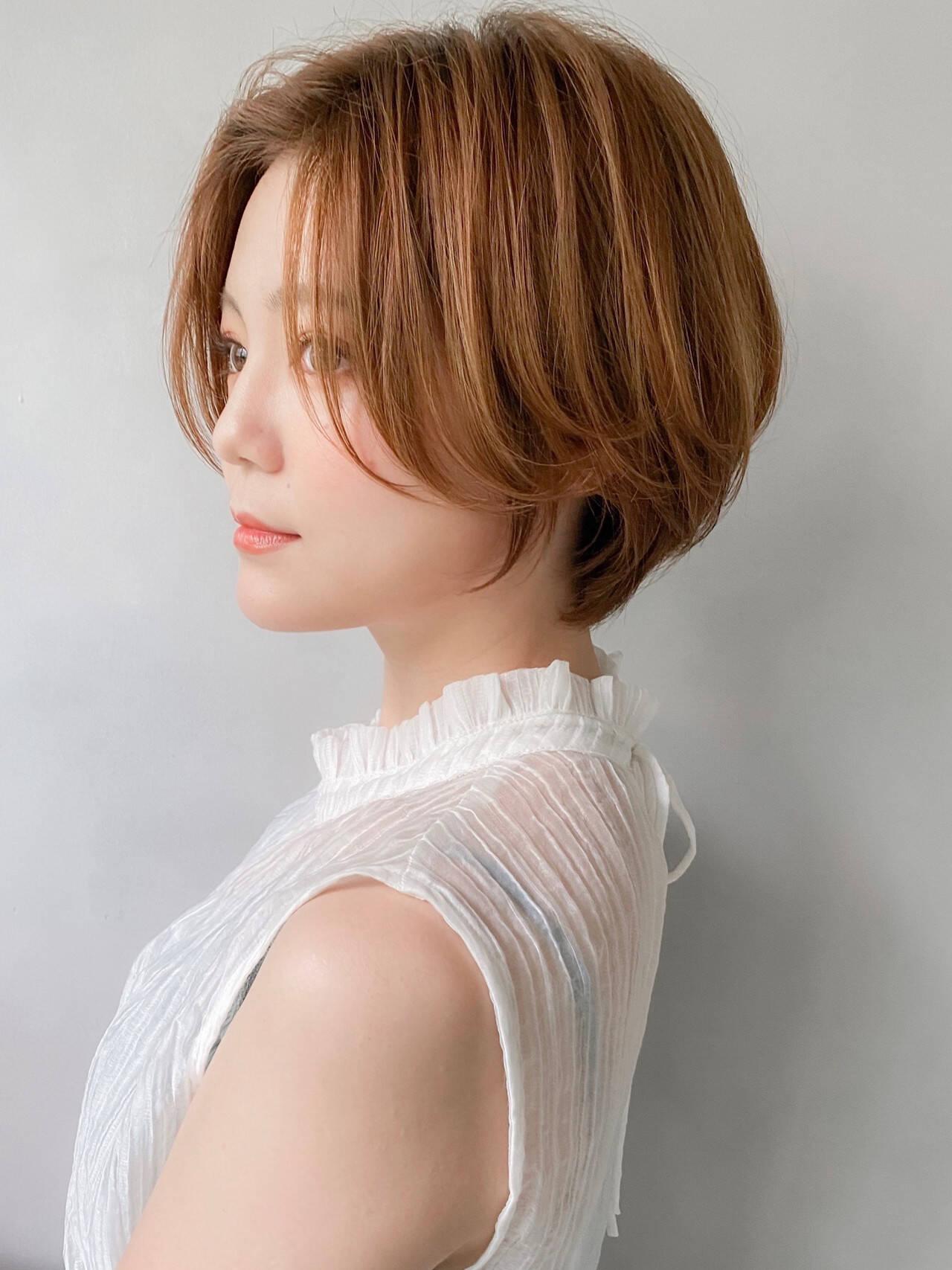 ショートヘア ナチュラル ショート 大人かわいいヘアスタイルや髪型の写真・画像