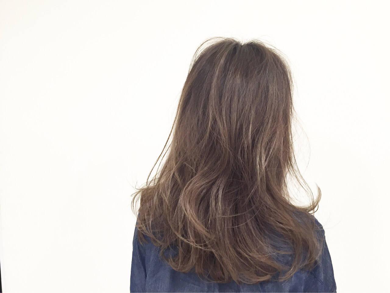 マルサラ ストレート ストリート グラデーションカラーヘアスタイルや髪型の写真・画像