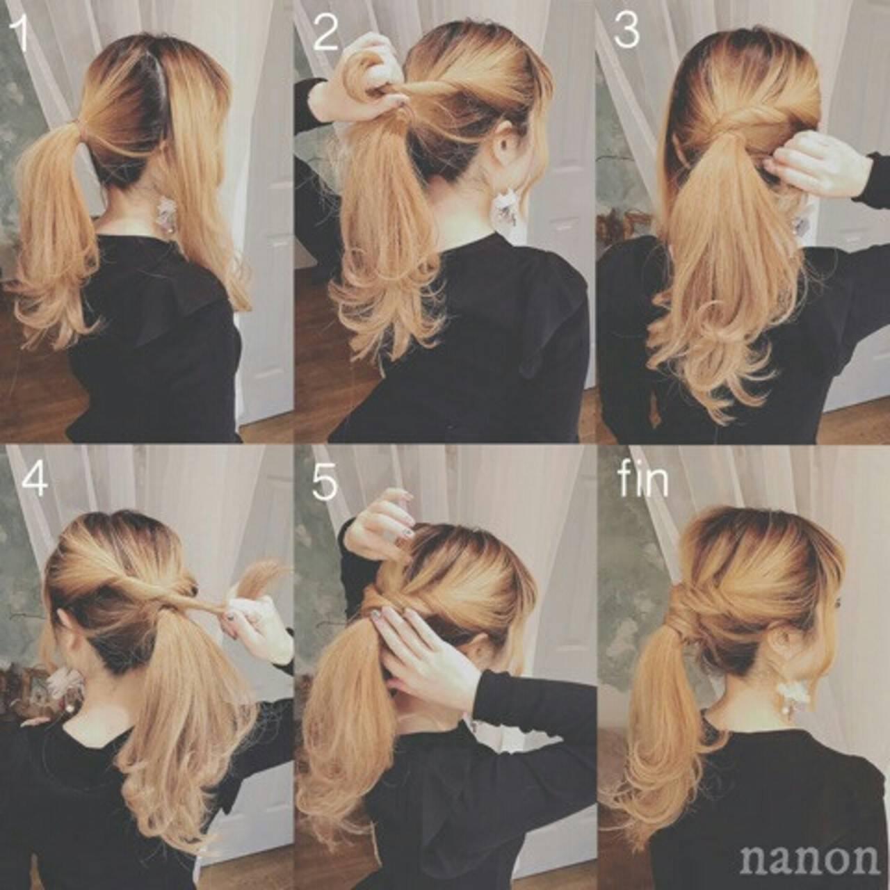 ヘアアレンジ ロング ポニーテール 大人かわいいヘアスタイルや髪型の写真・画像