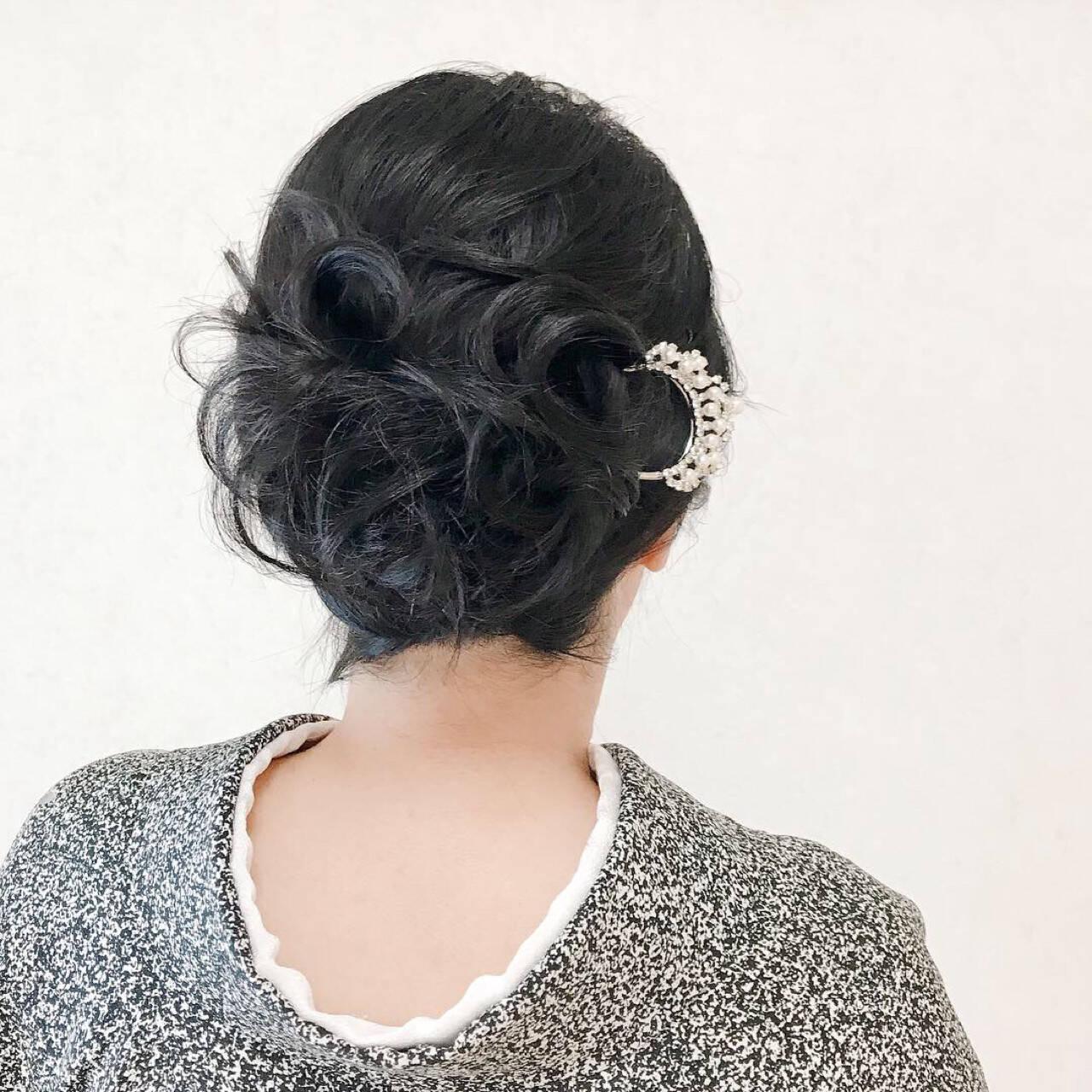 結婚式 着物 和装 ヘアアレンジヘアスタイルや髪型の写真・画像